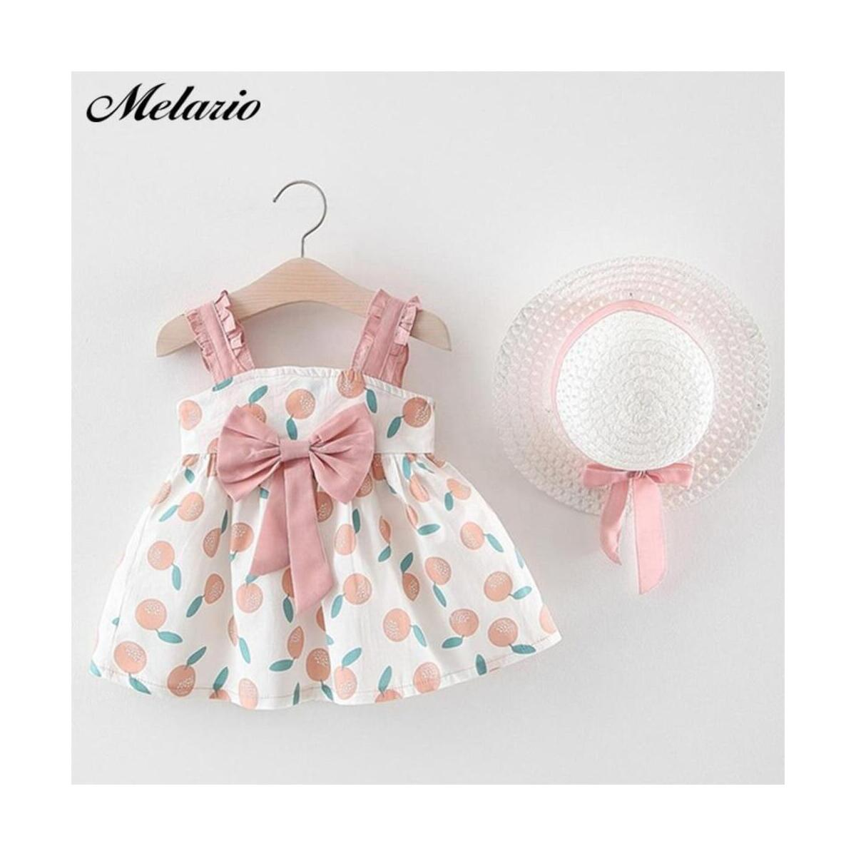 Baby Girl Clothes Set Summer Beach Outfit with Hat Set