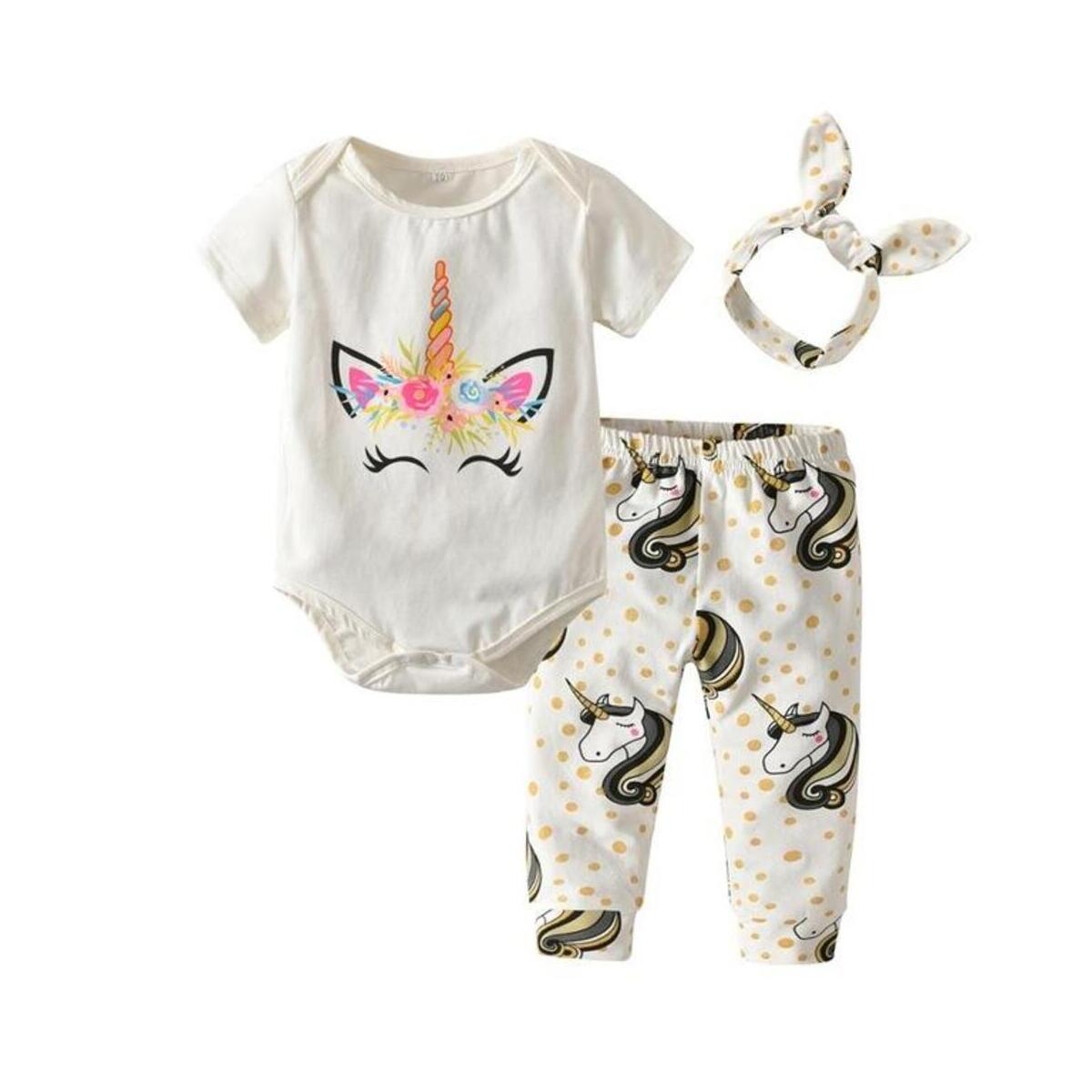 New born Girl Suits Letter print Outfits 2pcs Suits Infant Baby Girls 3PCS Baby Clothing