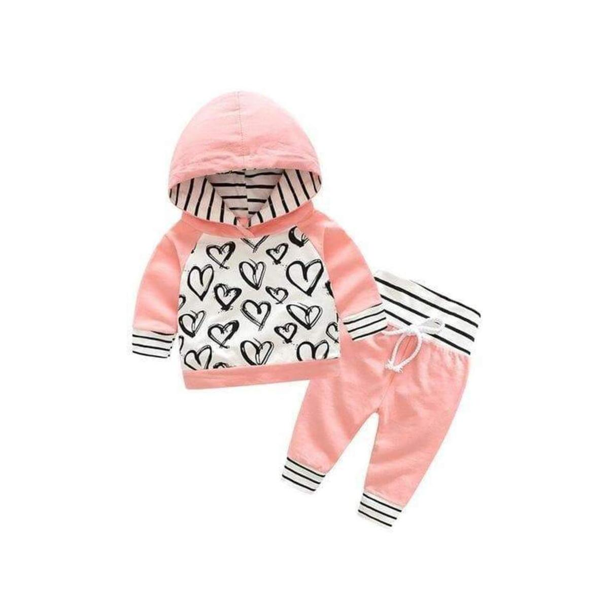 Baby Hooded Coat Summer/Spring Clothing with Pants Sets