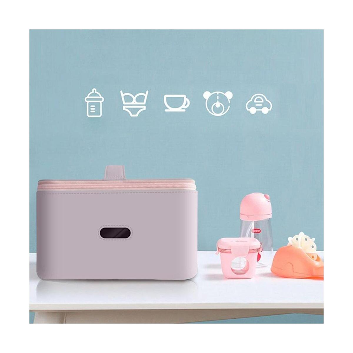 Portable Sterilizer UV Baby Mummy Bag Clothes Bottle Toy Disinfection  Box Cleaning Bag for Travel Outdoor Household Baby Bottle