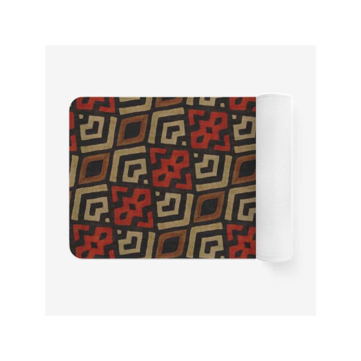 Bogolan Mystic Red Microfiber Chevron Non-Slip Soft Kitchen Mat Bath Rug Doormat, 18'' x 30''