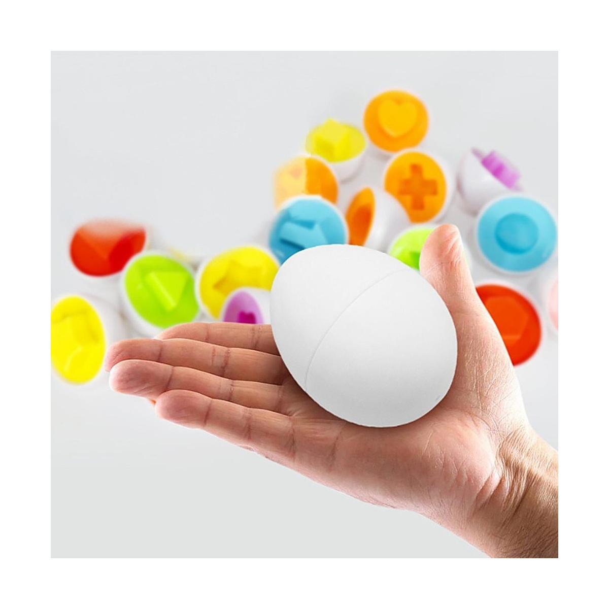 Color & Shape Sorter Matching Egg Toy Color Set Educational Learning Toy Kids Gift