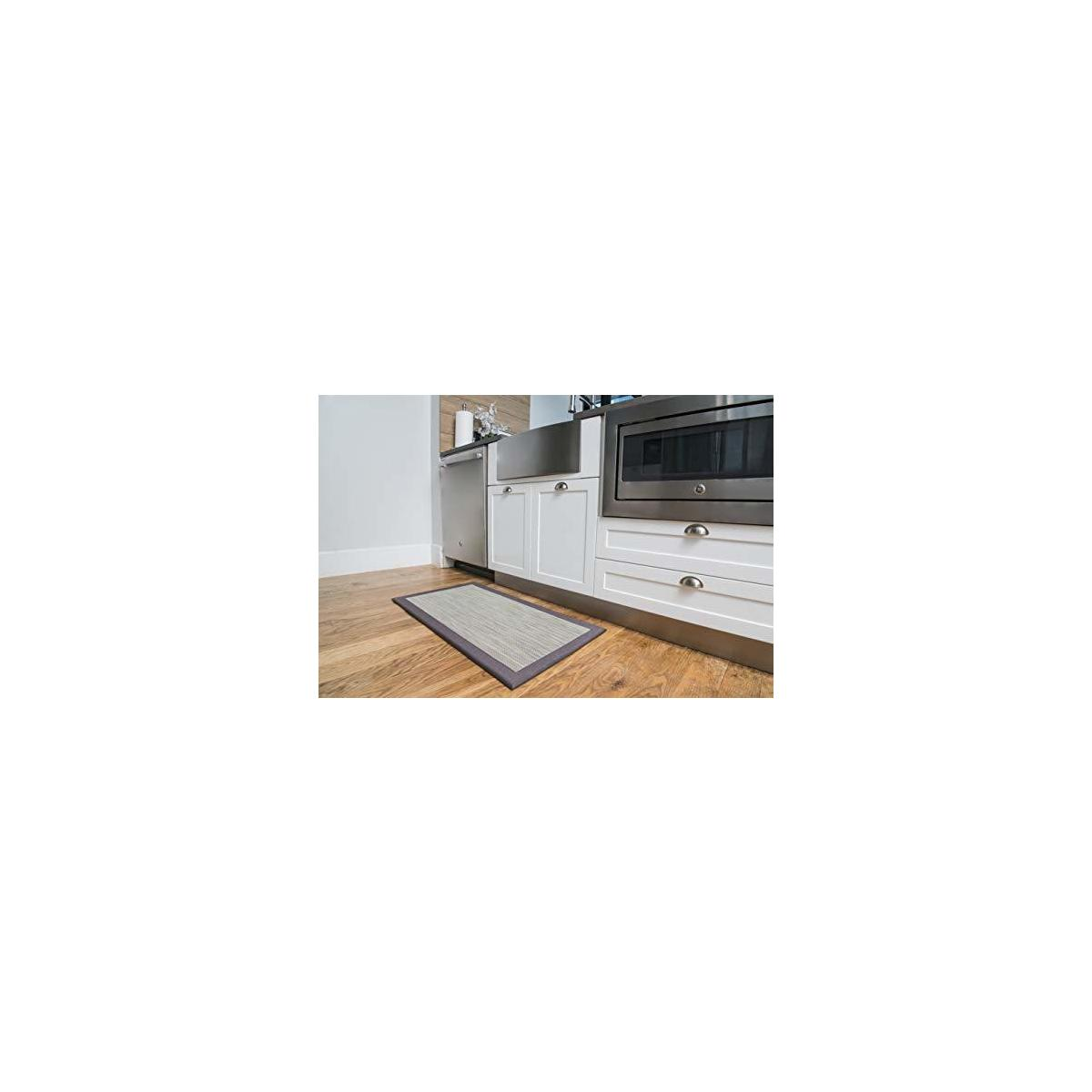 Deluxe Anti Fatigue Standing Kitchen Comfort Mat (39 x 20 inch) Ergonomic Non-Toxic Rug and Mat for Home or Office Standing Desk Or Work Place Safety from Cooler Kitchen
