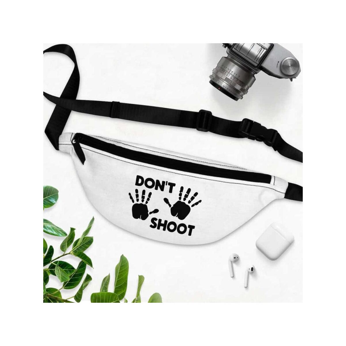 Afrocentric Don't Shoot Black Fanny Pack