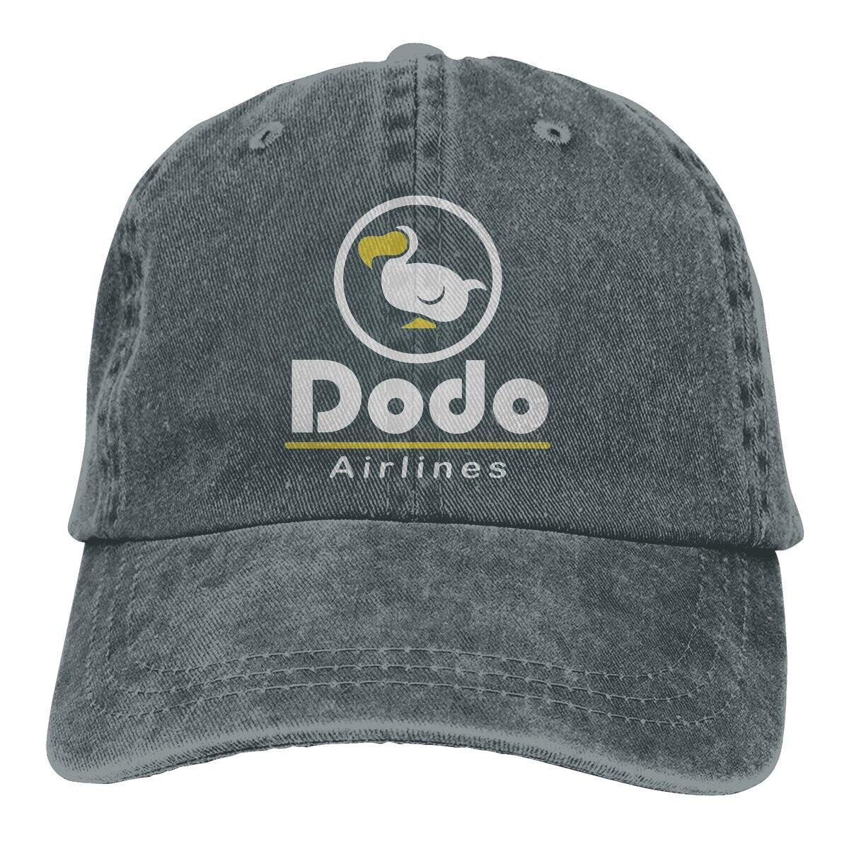 Dodo Airlines Baseball Style Snapback Hat, Dark Gray / One Size