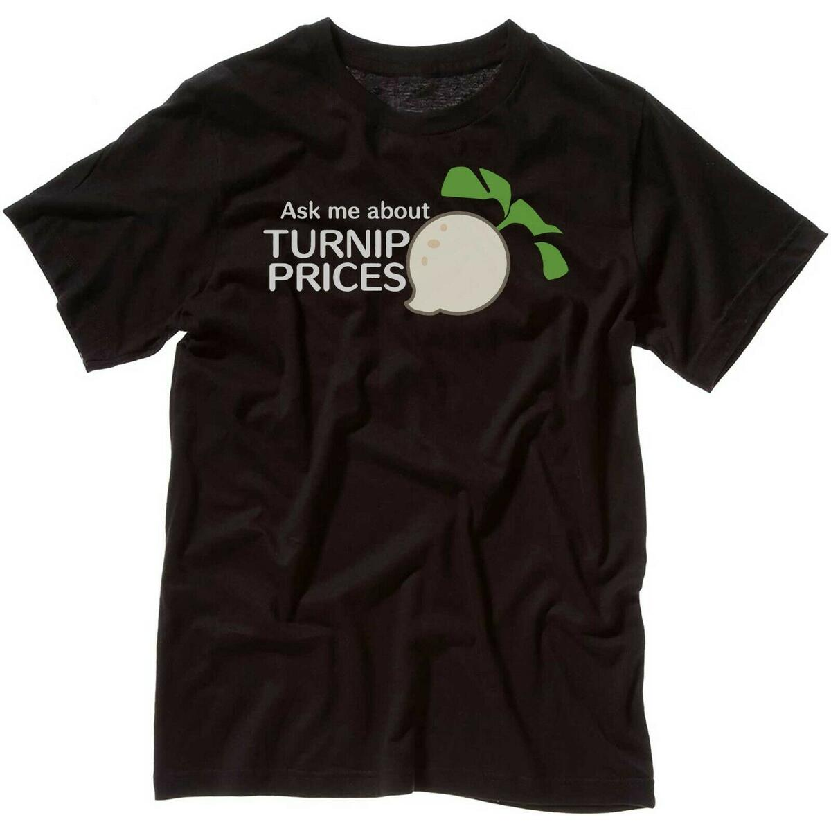 Animal Crossing Ask About My Turnip Prices Unisex T-Shirt Hoodie, Dark Gray / M