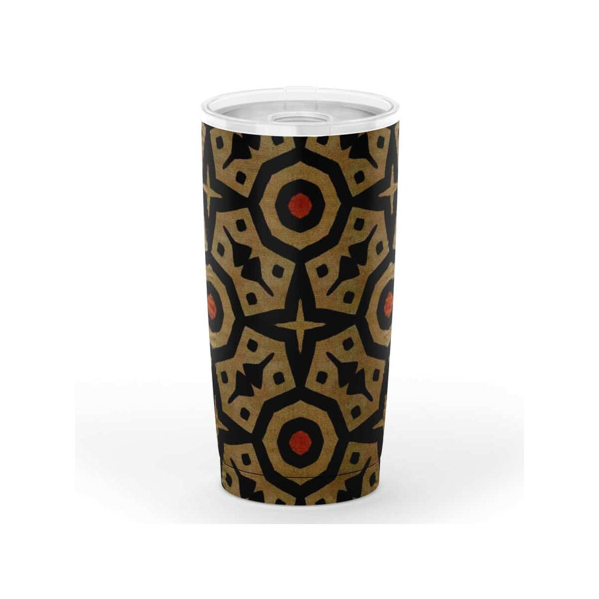 Brown Bogolan Star Circle 20oz Tumbler