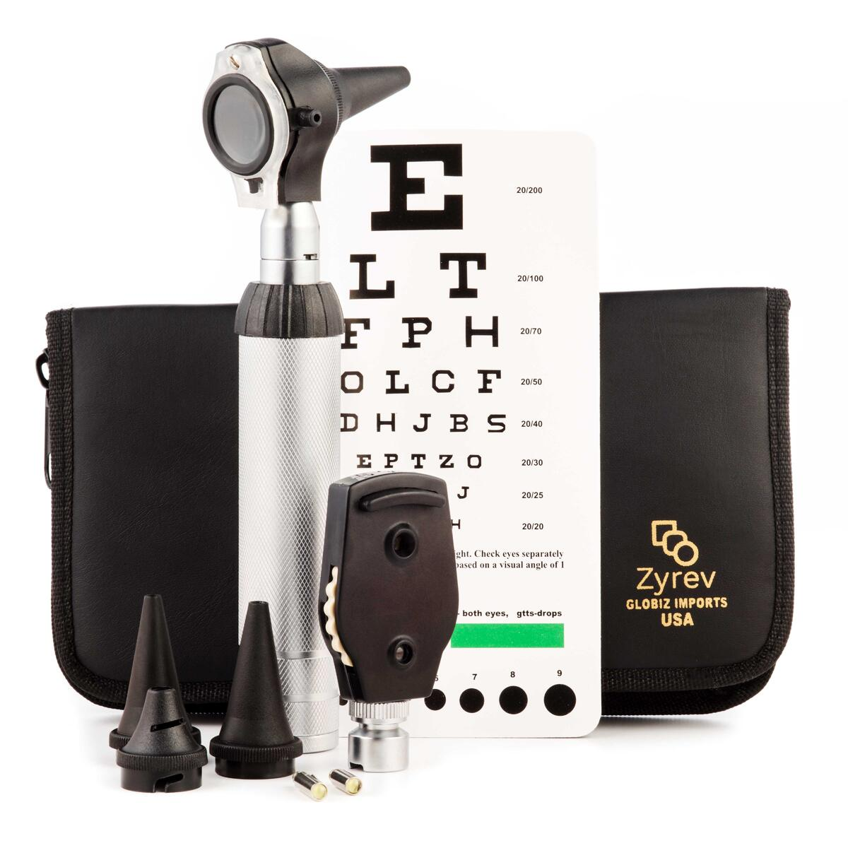ZetaLife 2 in 1 Ear Scope Set - Multi-Function Otoscope for Ear, Nose & Eye Examination