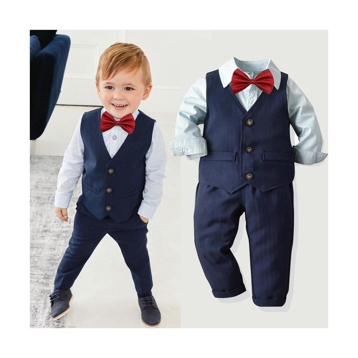 Kids Blazer Toddler Boy Suits Set Formal Suit For Boy Costume Kid Boys Wedding Suit Outfits Children Clothing Sets