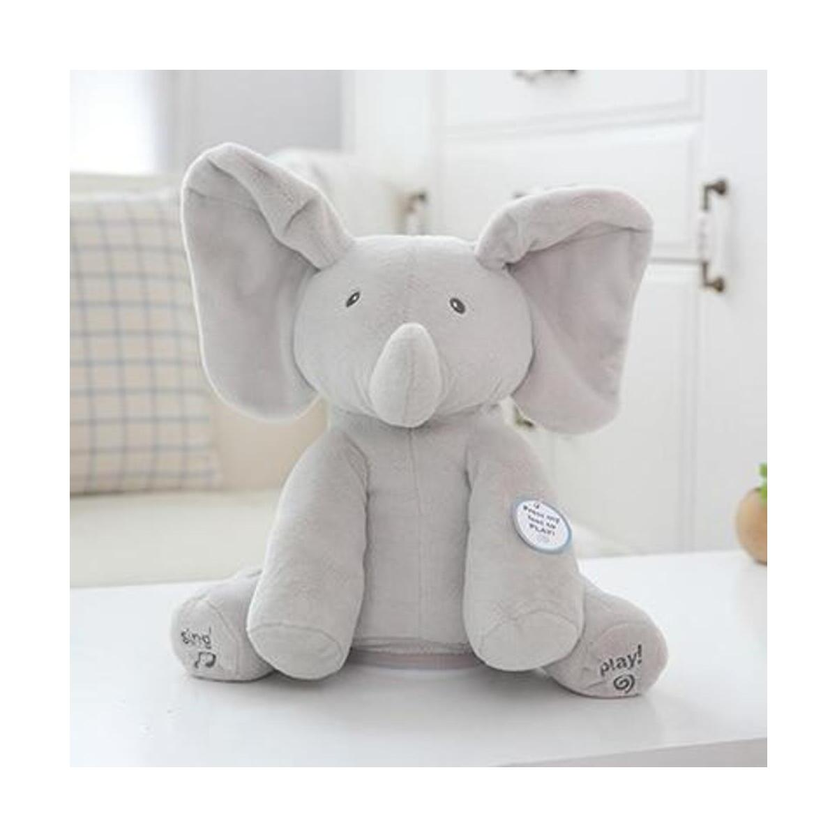 Peek-a-boo Elephant Baby Plush Toy Talking Animated  Singing Stuffed Kids Music Cute Doll stuff toys
