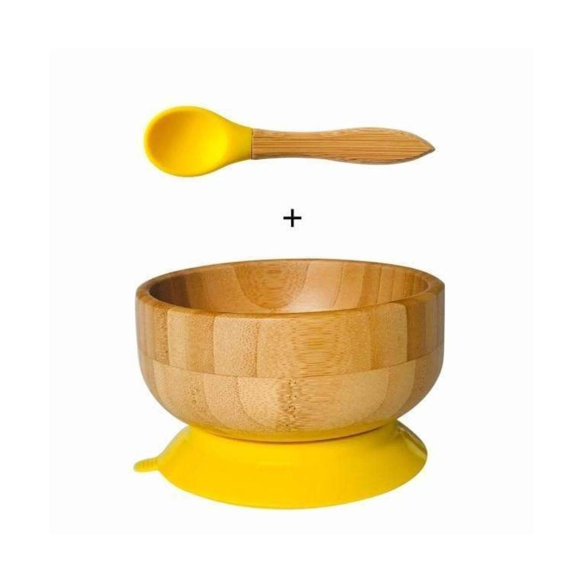 Bamboo feeding Baby Bowl and Spoon