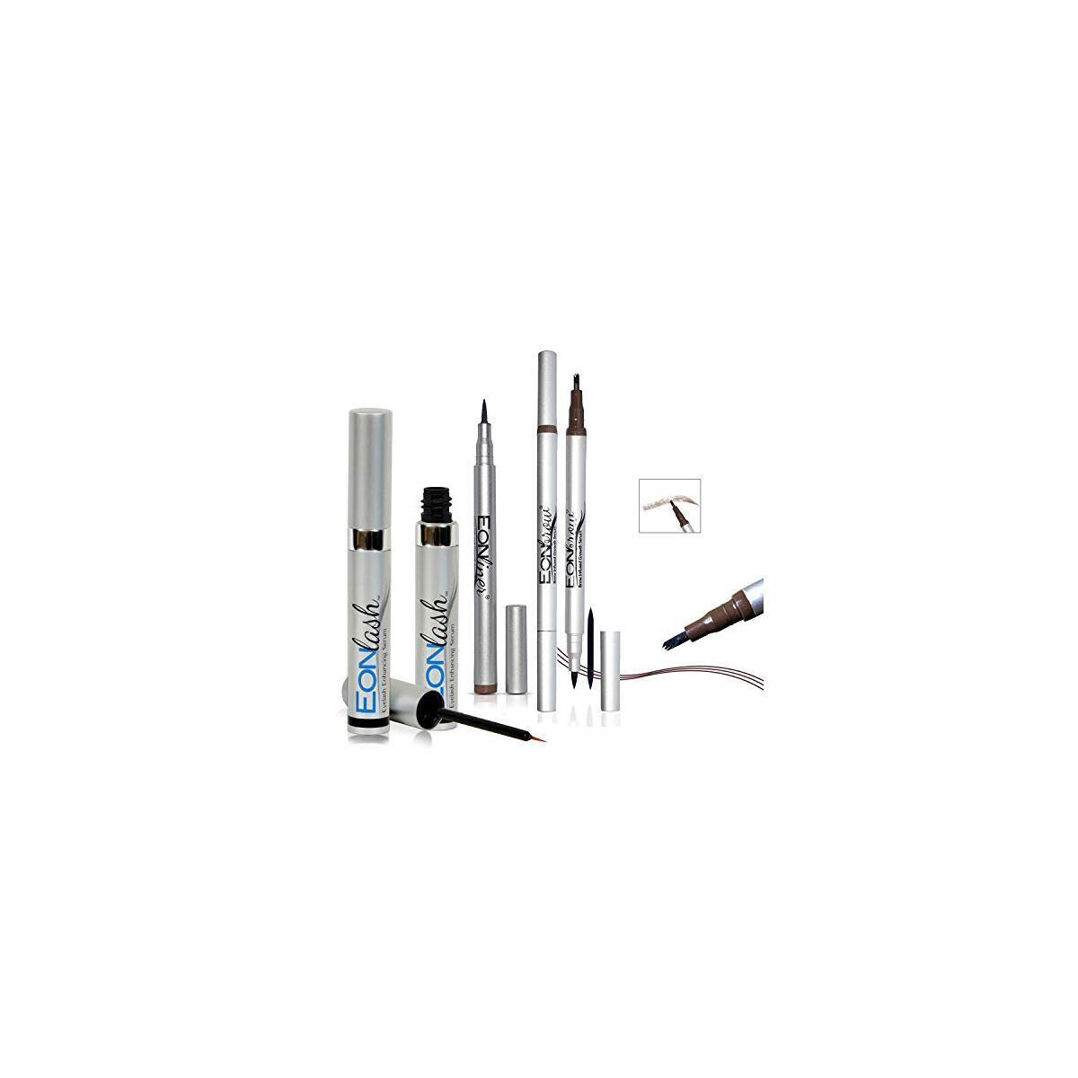 Liquid Eyeliner Pen - Eyebrow Enhancer - Eyelash Growth Serum Long Lasting   Super Slim   Ultra-Fine Felt Tip Liquid Pen Waterproof Smudge Proof Perfect Makeup,Quick Drying Formula -12 Hours Treatment