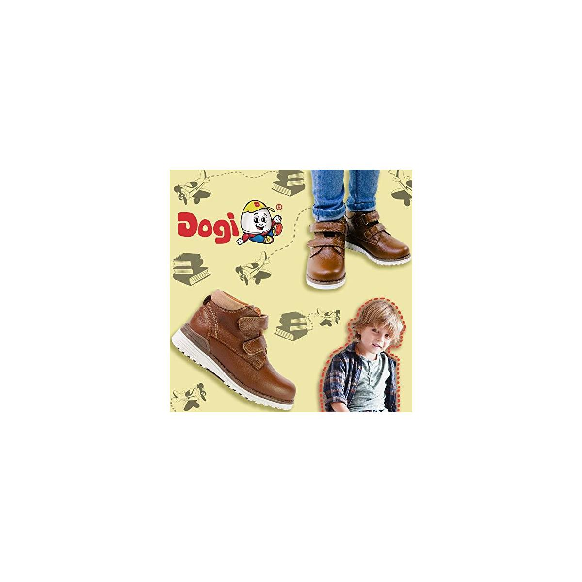 DOGI Boys Velcro Chukka Boot - Premium Full Grain Leather Slip On Chukkas with Rounded Toe, Anti-Shock Insole and Lightweight Outsole - Jack