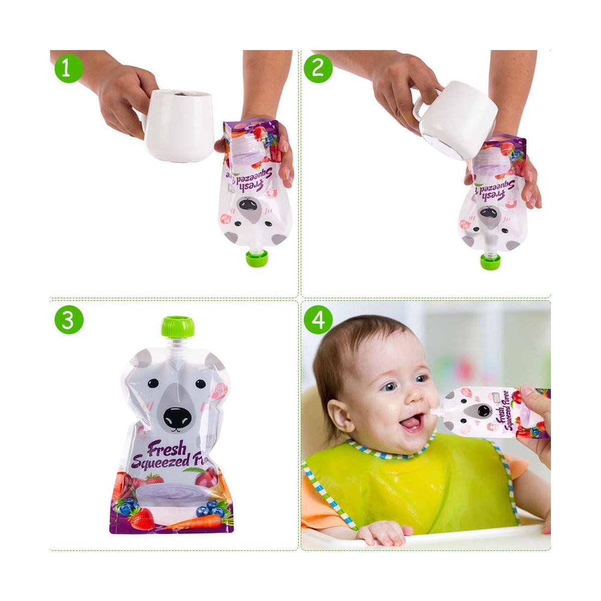 Twist Pouch Breast Milk Storage Bag for Pumping Feeding Starter Kit