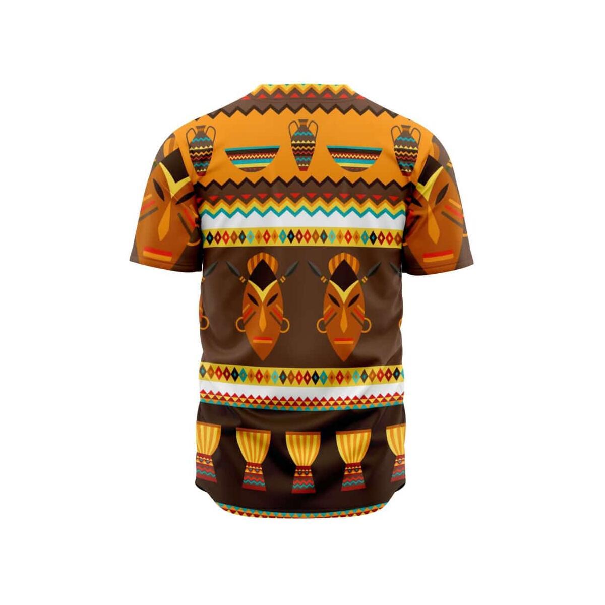 African Djembe Masks Baseball Jersey, XL