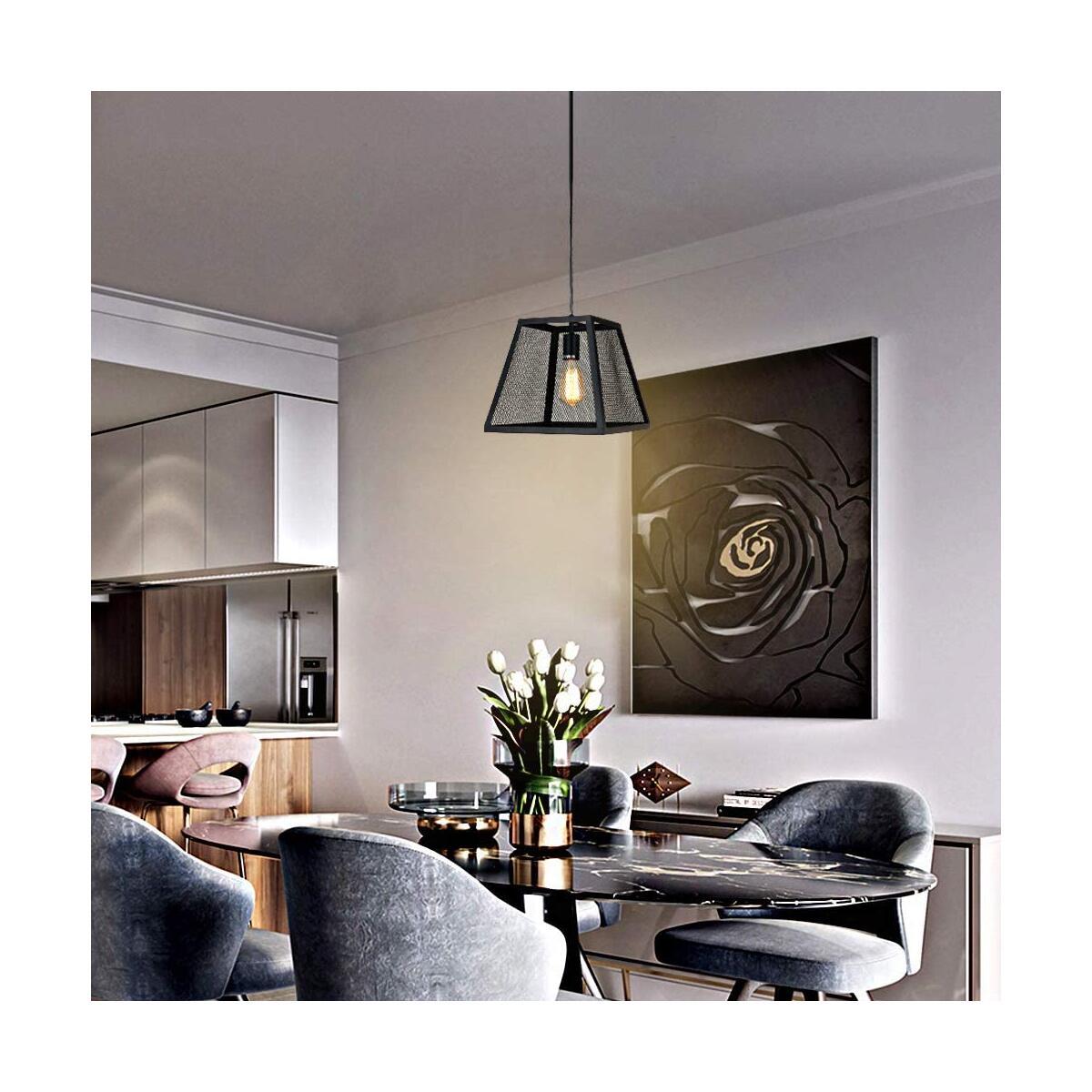 1-Light Industrial Pendant Lighting for Kitchen Island, 11.42