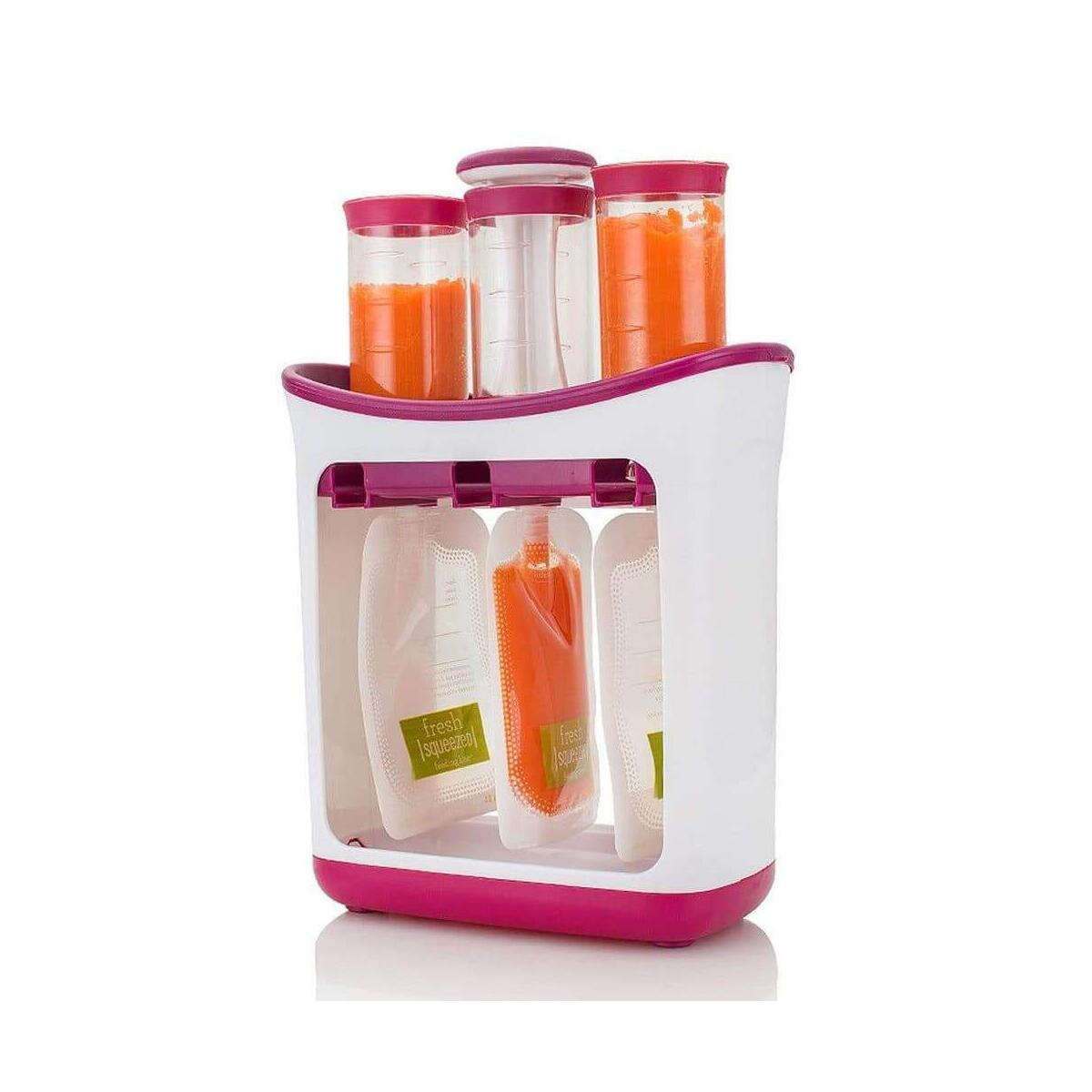 Baby Food Maker Infant Feeding Containers Storage Starter Kit Food Squeeze Station Baby Fruit Puree Packing Machine Toddler Solid Juice Maker