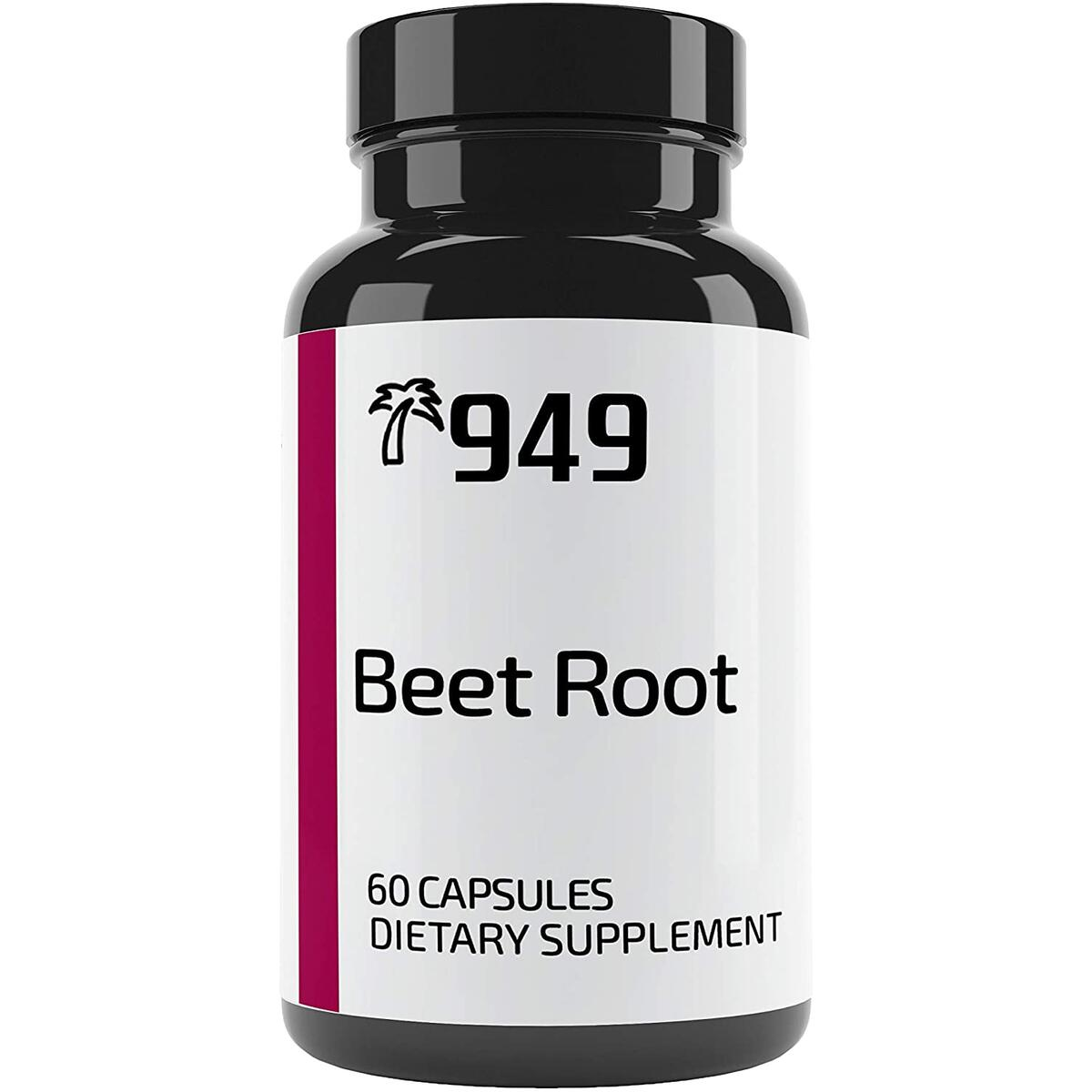 Beet Root Capsules, Under 10 Dollars, 60 Caps, Energy, Cardiovascular Health, No Additive or Filler, Lab-Tested, Made in USA, Satisfaction Guaranteed, 949*