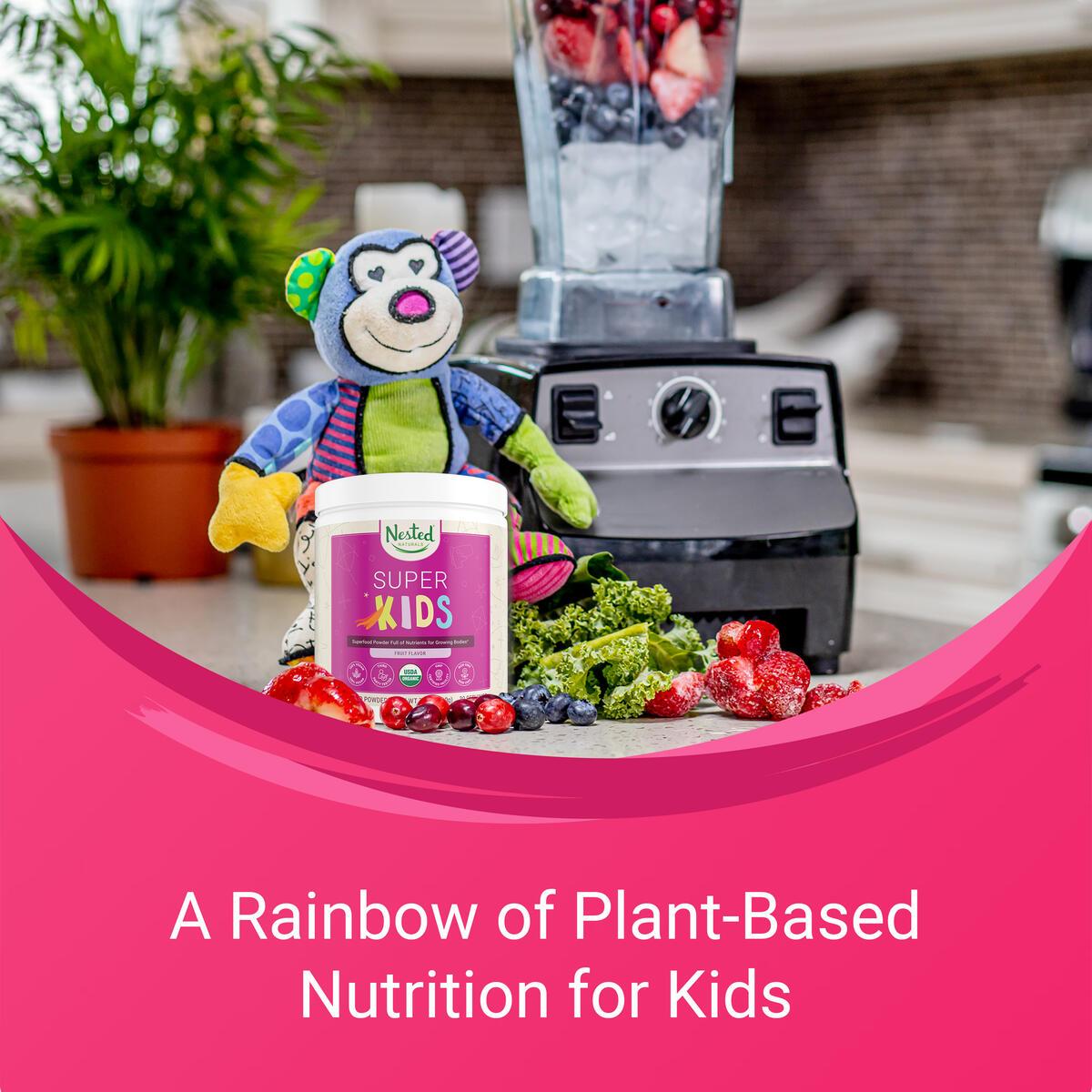 Nested Naturals Super Kids   100% USDA Organic Vegan Superfood Powder for Kids