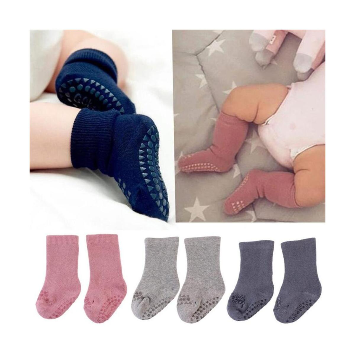 Infant Silica Gel Cotton Baby Non-slip Kids Girls Toddlers Socks