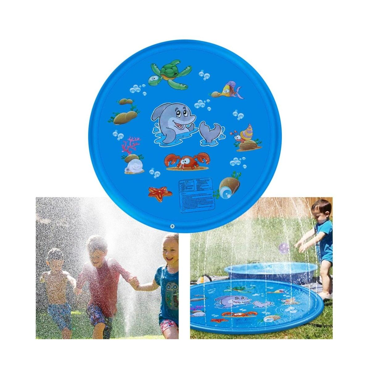 Summer Outdoor Beach Inflatable Playmat Cold Water Spray Kids Sprinkler Play Game Pad Mat Tub Swiming Pool Toys