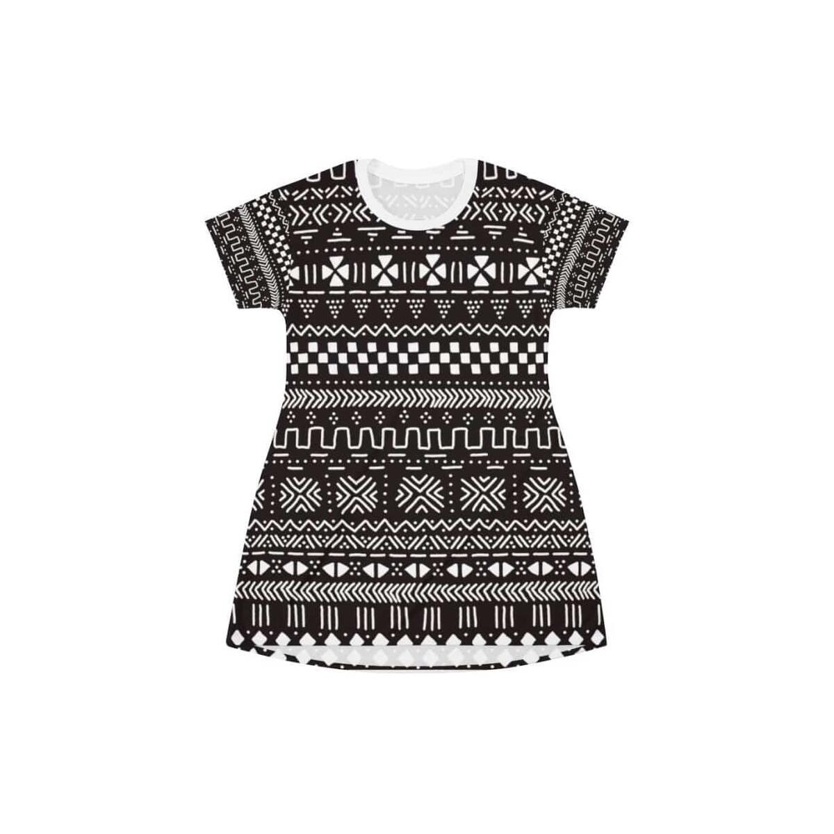 Tribal African mud cloth T-Shirt Dress