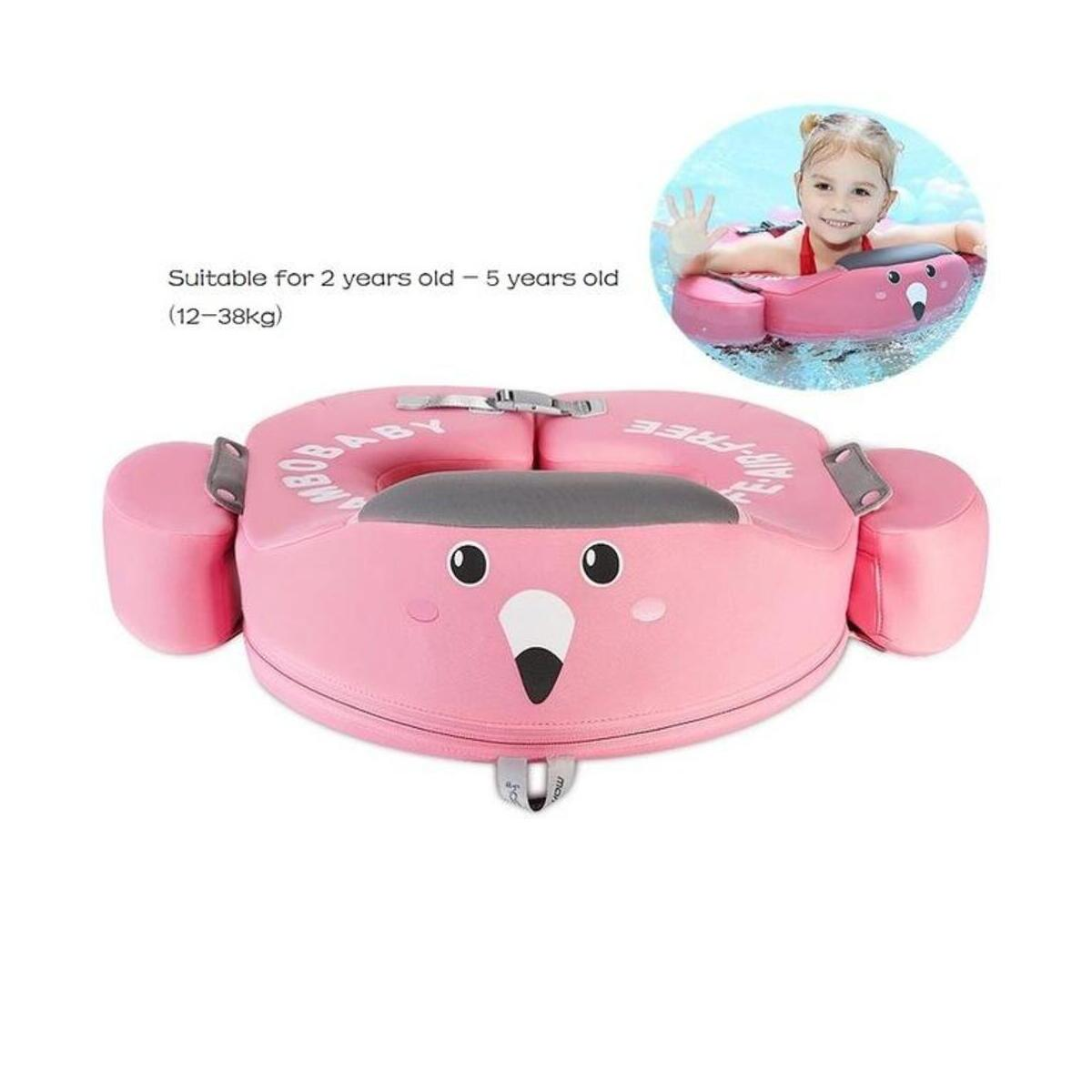 Baby Swimming Ring Safety Non-Inflatable Float Lying Infant Kids Swim Pool Relaxing Shoulder Multifunction Foldable Handsfree Circle Bathing Toys Float Swim Trainer