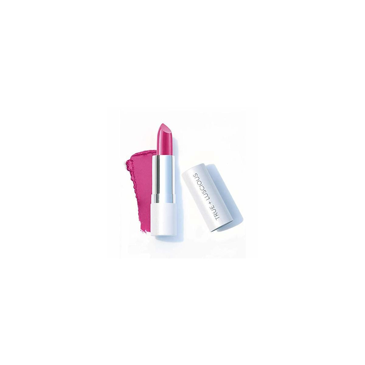 Super Moisture Lipstick by True + Luscious - Clean Formula, Smooth and Hydrating - Vegan and Cruelty Free Lipstick, Non Toxic and Lead Free Shade: Wild Rose - 0.12 oz