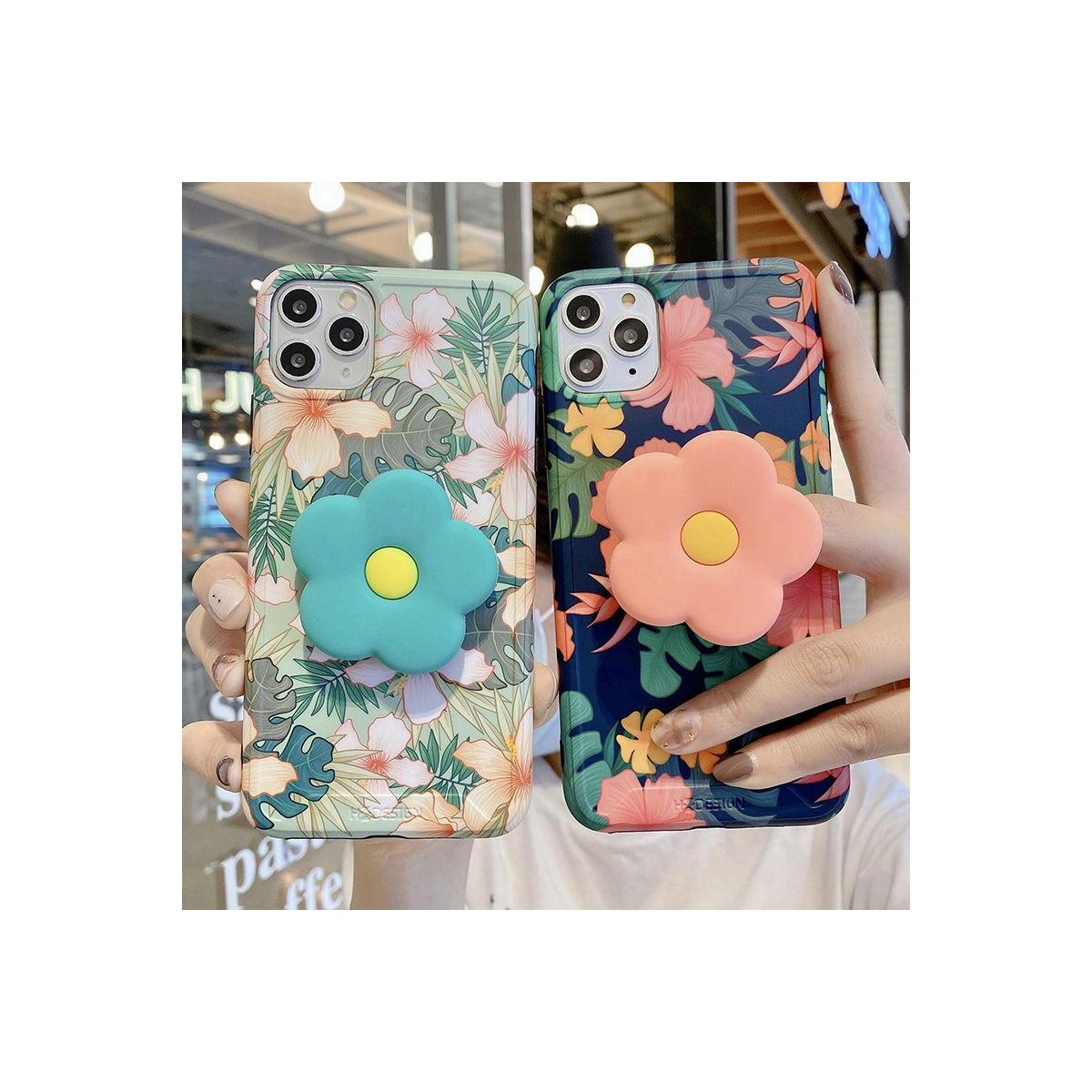 Vintage Cute Flower Leaves Stand Holder Case For iPhone 11 11Pro Max XR XS Max X XS 7 8 Plus 11Pro SE 2020 Folding Bracket Cover, For iphone 11Pro / T4