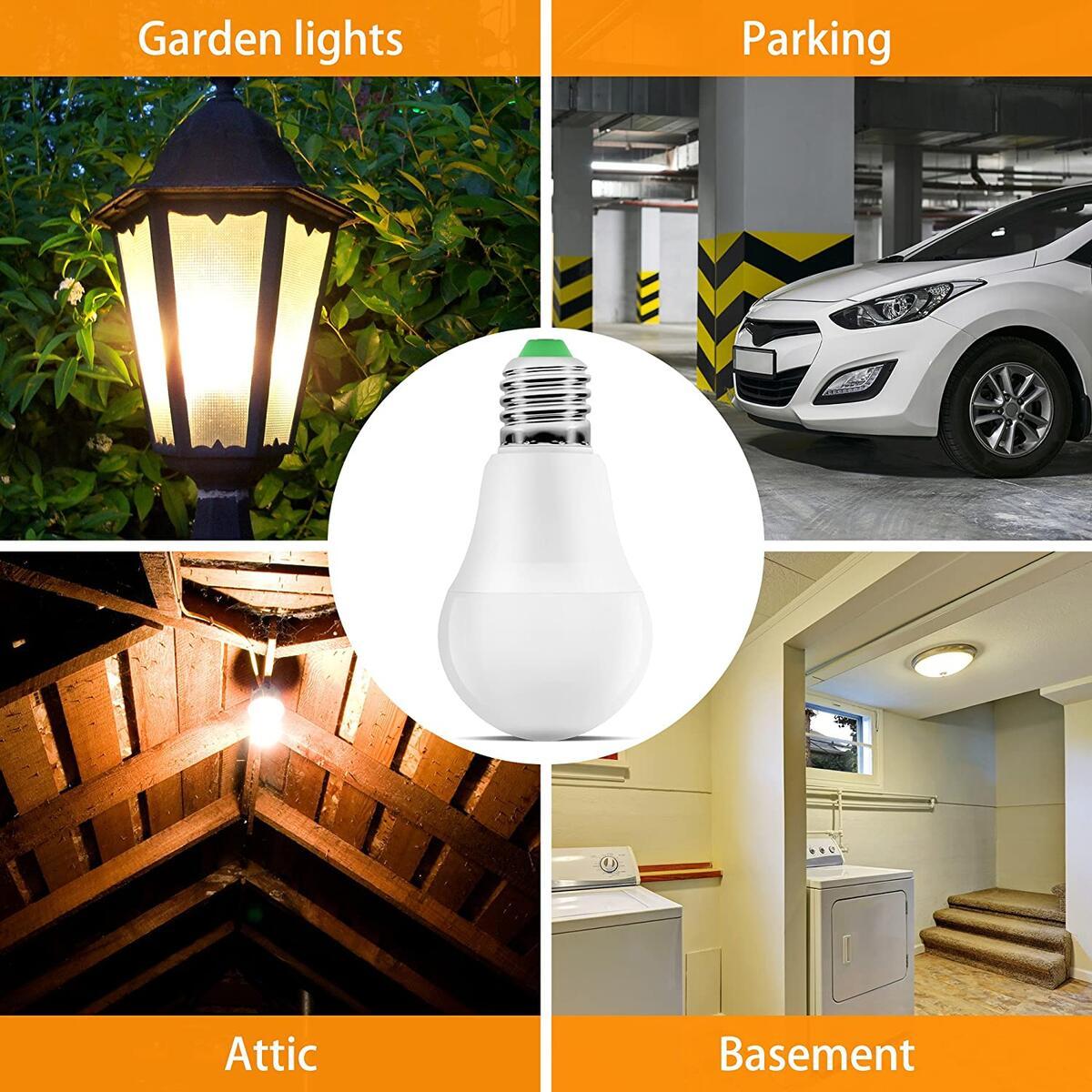Motion Sensor Light Bulb Outdoor - 9W 4000k Dusk to Dawn Light Bulb Radar - Motion Sensor Porch LED Motion Activated Outdoor Light Detector for Garage Basement Stairwell Indoor Hallway