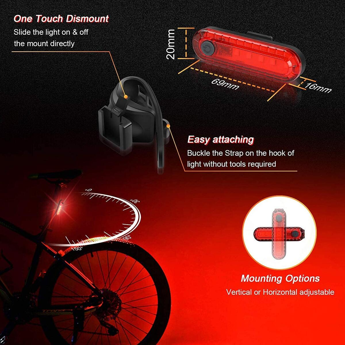WASAGA TECOVE 1000 Front Bicycle Light - Super Bright Rechargeable Bike Headlight for Commuters, Road Cyclists & Mountain Bikers