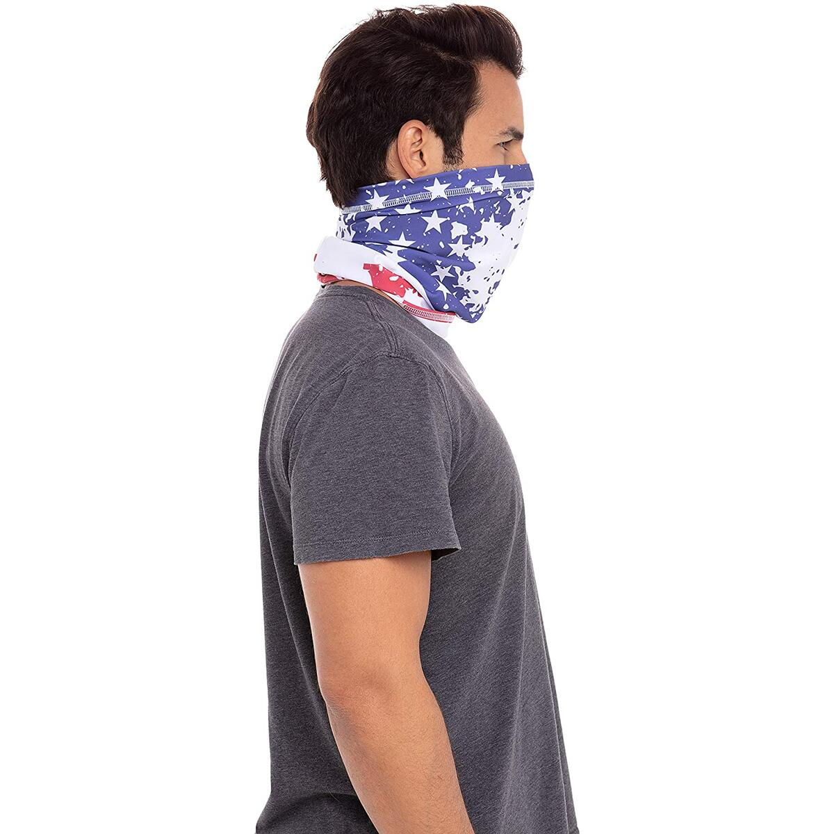 Legnar USA Neck Gaiter - Face Cloth Mask- Washable UV Protection Face Scarf- Neck & Headwear for Men Women and Teens