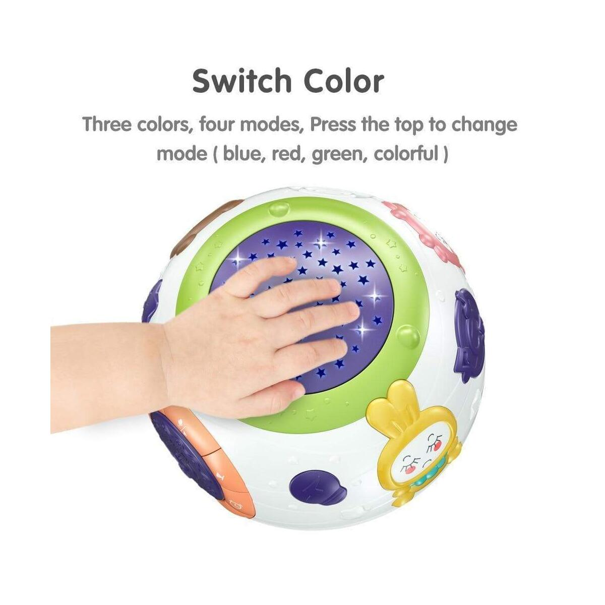 Projector Night Light For Kids Bedroom Decor Music Sphere Table Lamp