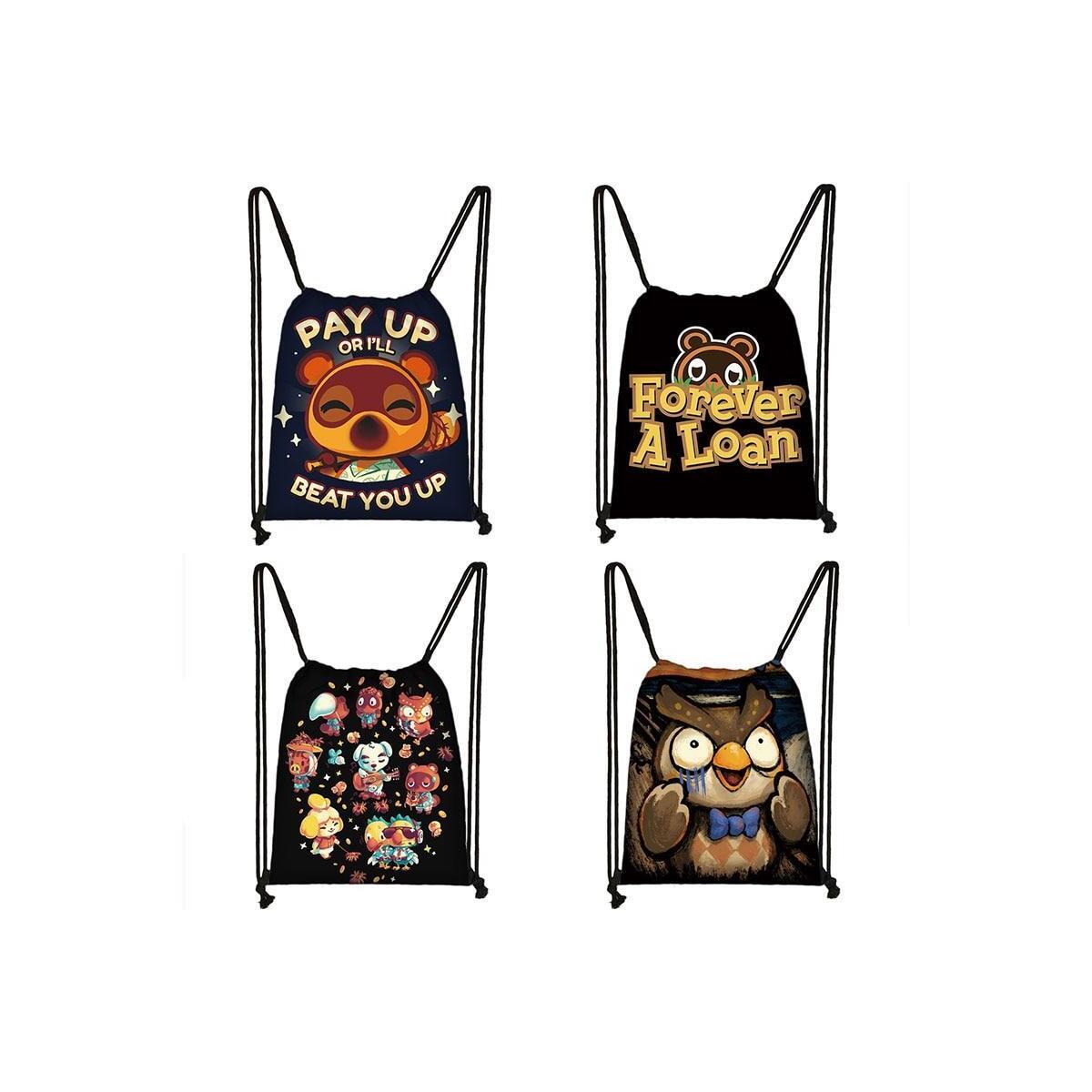 Animal Crossing Drawstring Backpack, skdanimalcr19