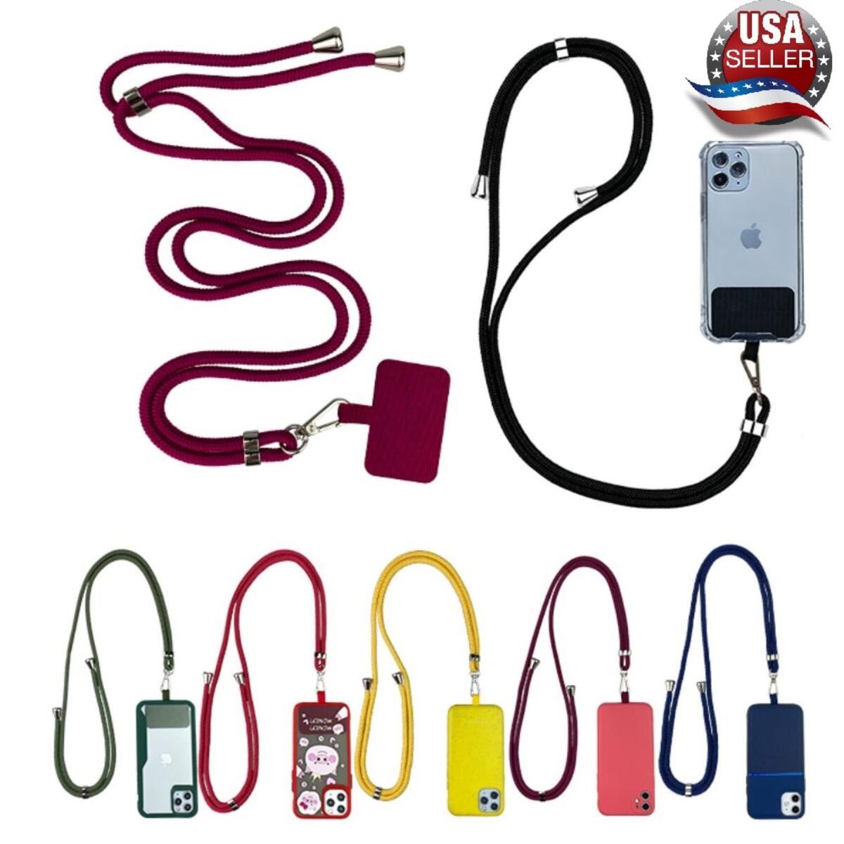 Phone Lanyard, Universal Cell Phone Lanyard with Adjustable Shoulder Strap, Lanyard Phone case, Multiple use Lanyard (Yellow Pad, Black Multi Strap)