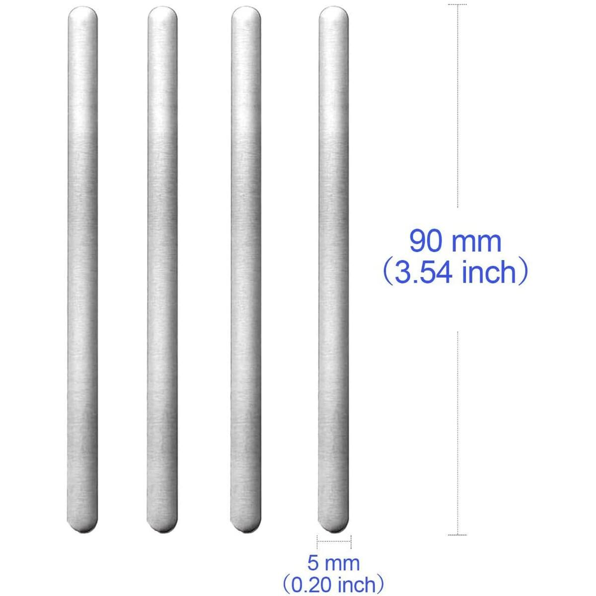 120 90mm Aluminum Nose Bridge Flat Wire Strip Bridge for DIY Face Production Accessories Crafts
