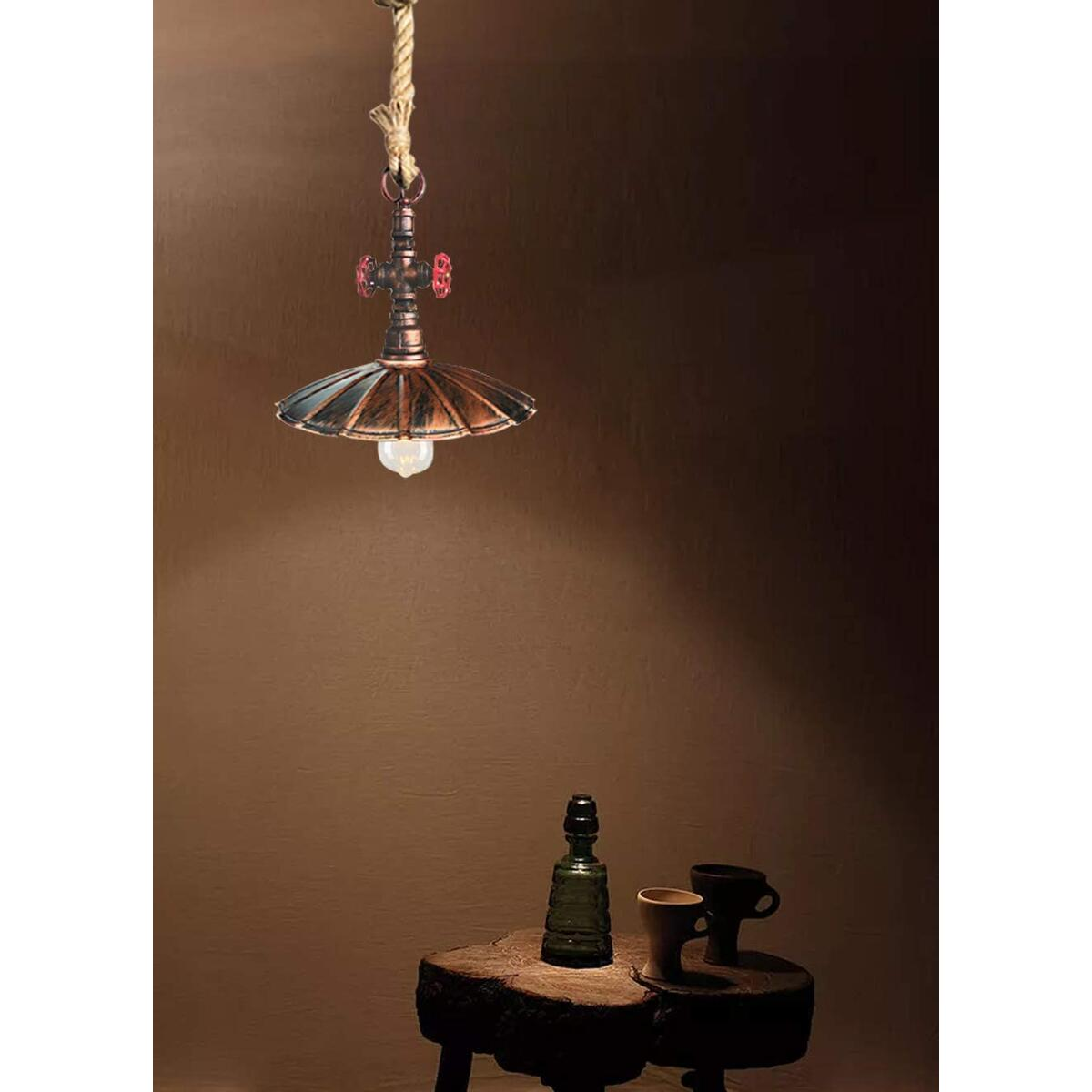 Vintage Pipe Pendant Light, 12