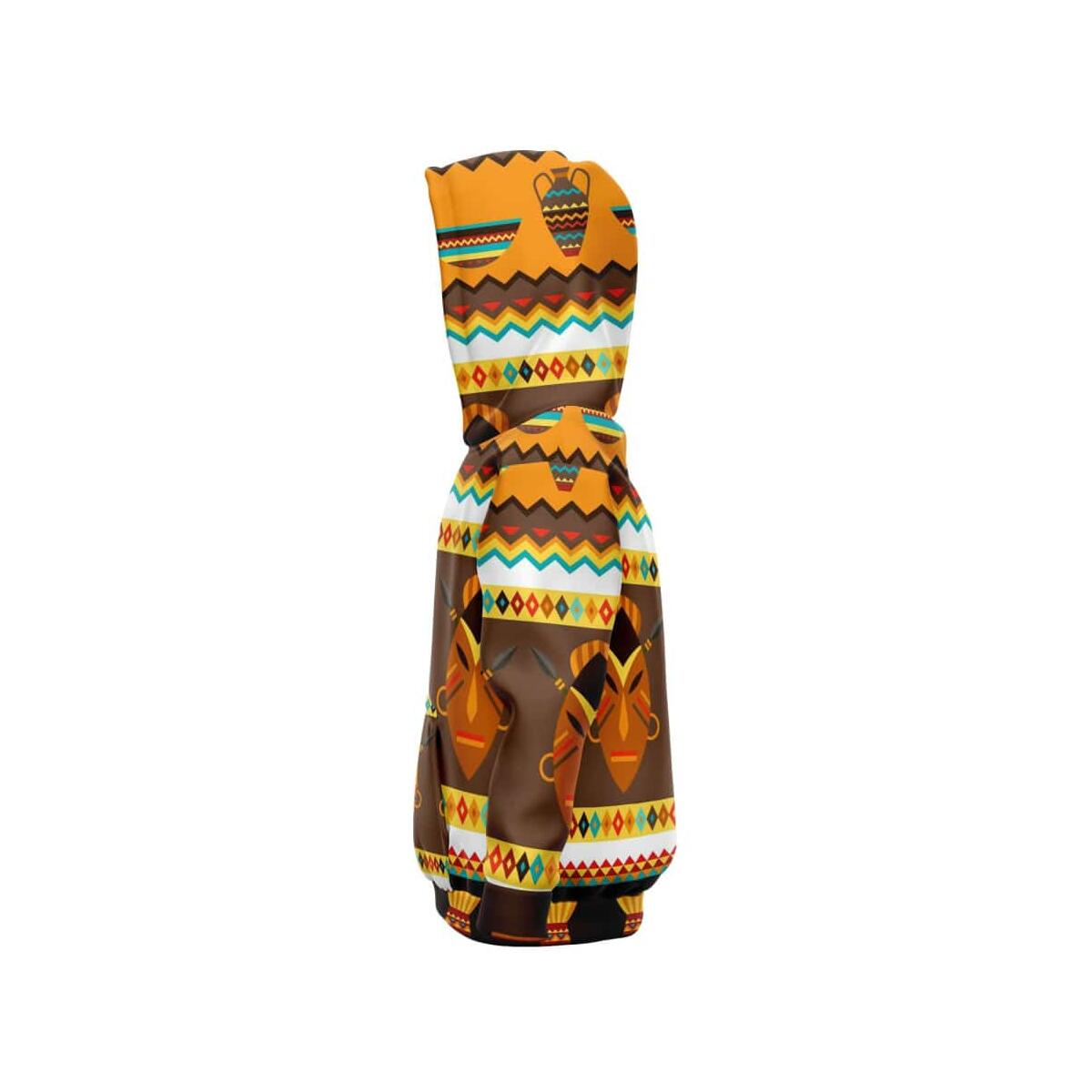 African Djembe Masks Kids Hoodie, M - 7-8 Years