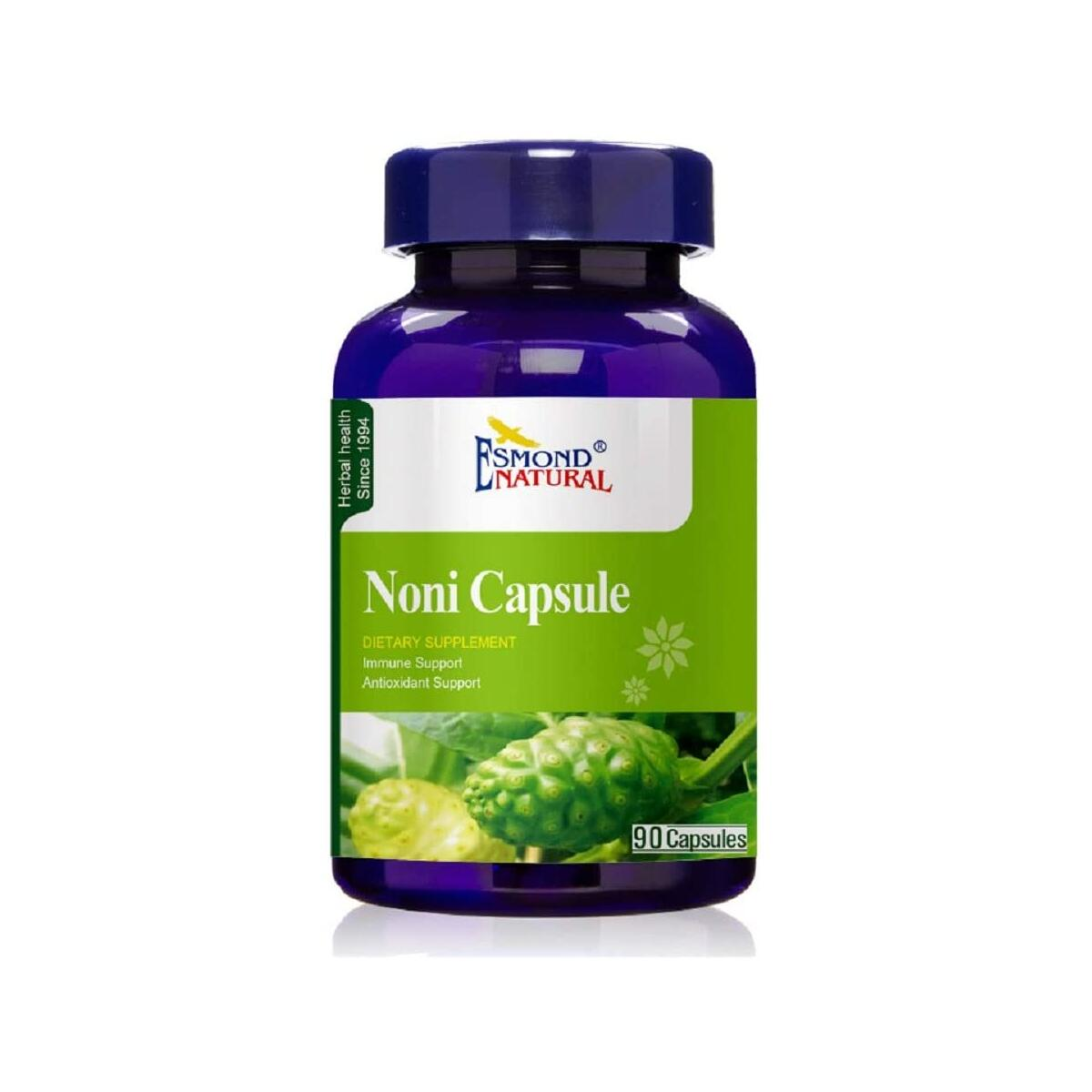 Esmond Natural: Noni Capsule (Immune Support, Antioxidant Support), GMP, Natural Product Assn Certified, Made in USA-90 Capsules