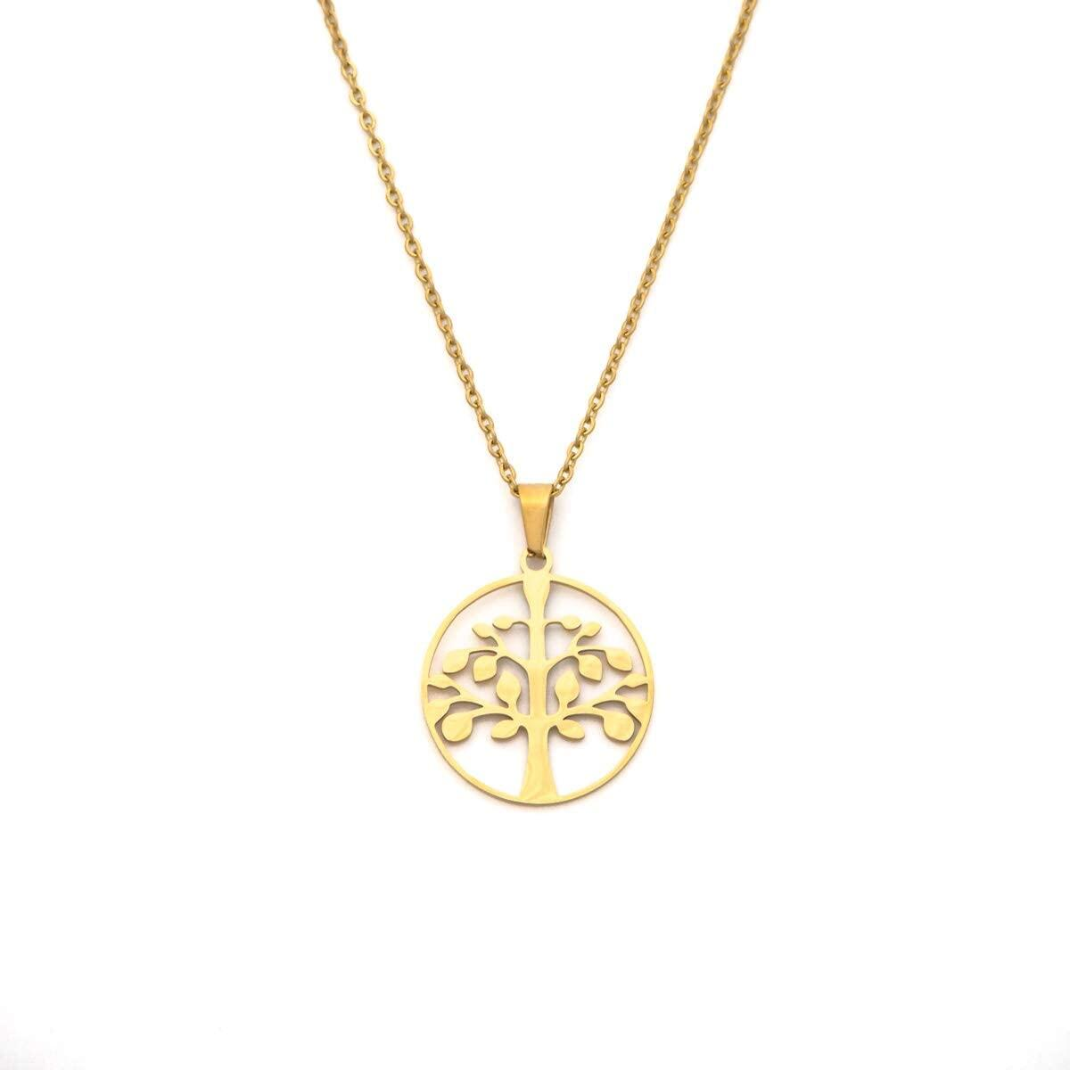 Tree of Life Necklace - Tree Pendant Necklace for Women Charm Necklace Lucky Necklaces Gold Necklace for Women