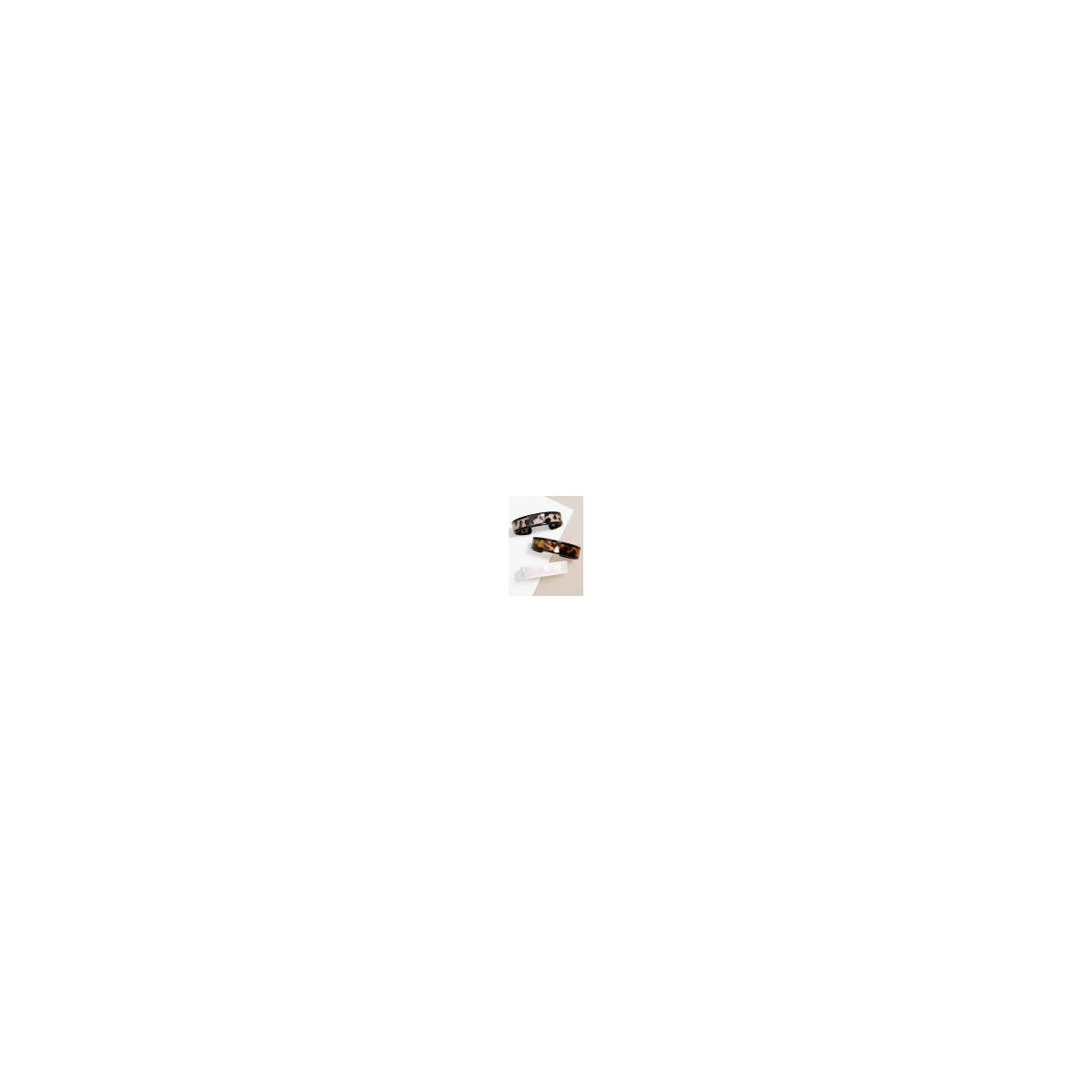 Skinny Lined Tortoise Cuff Bracelet   Stylish Costume Jewelry, White