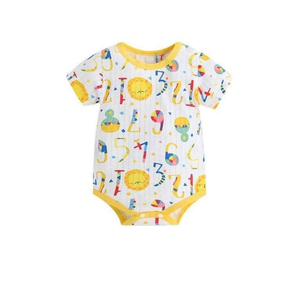 Infant Baby Unisex Onesie Summer Casual Style Short Sleeve Romper Cotton Jumpsuit