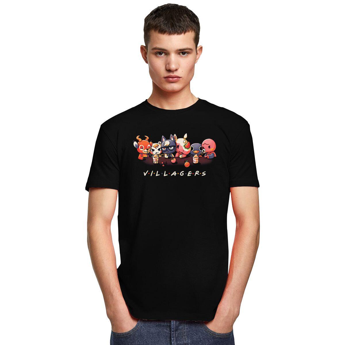 Friends Style Villager Shirt, Black / XXL