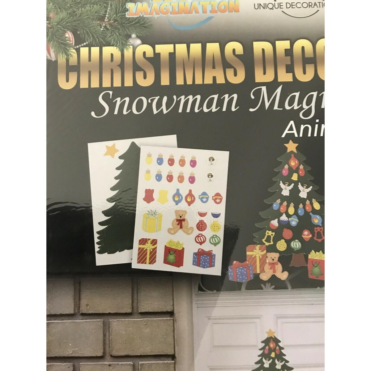Christmas Decoration. Tree Magnet Set Fridge, Classroom, Metal Door, Garage