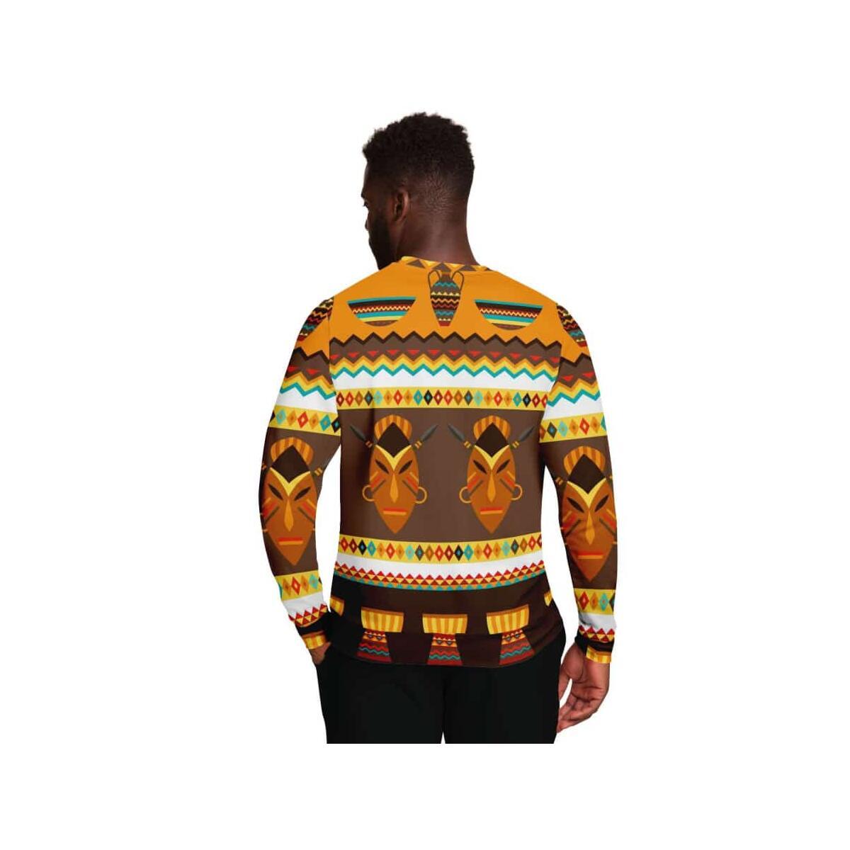 African Djembe Masks Sweatshirt, M