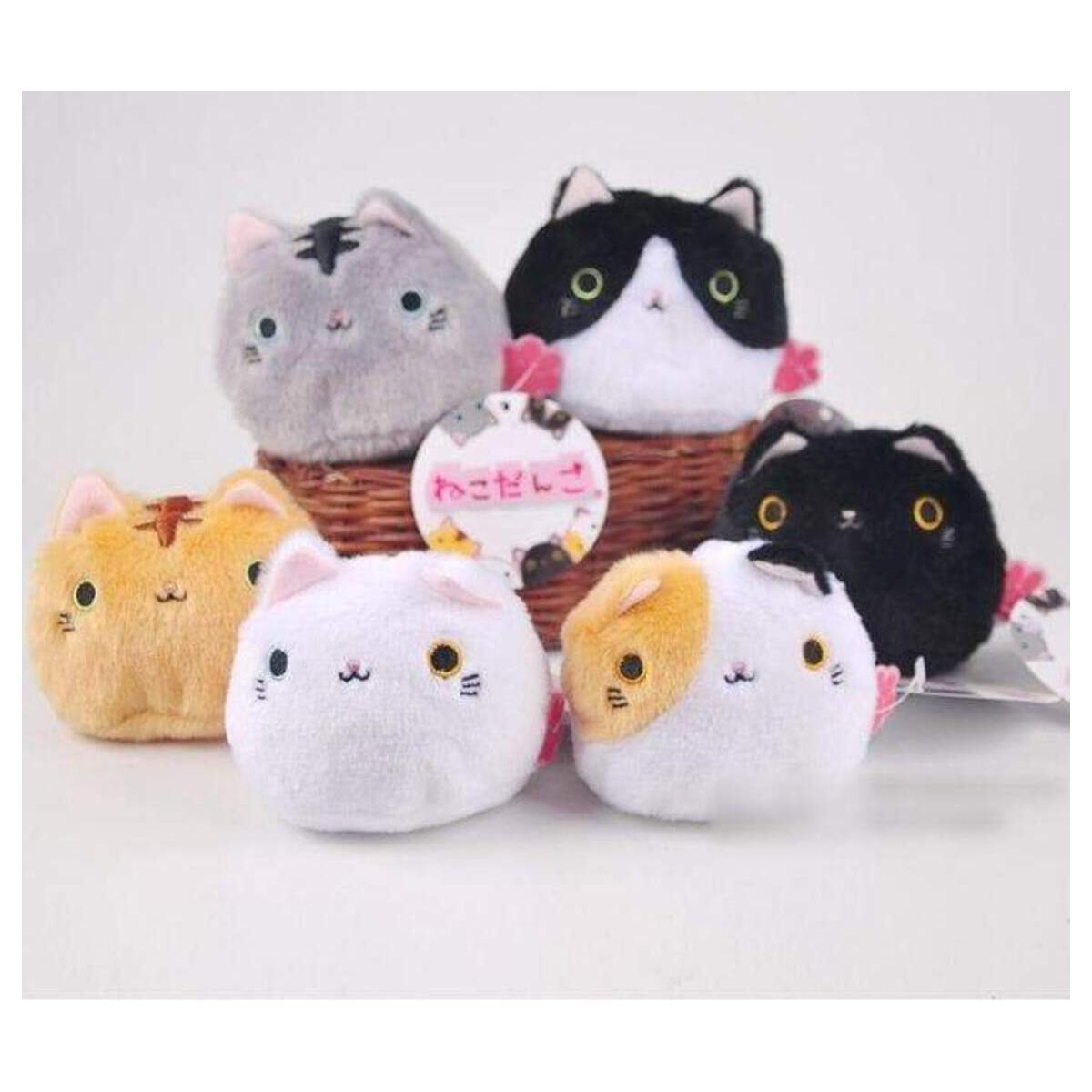 Cute Stuffed  Big Face Cat Plush Doll Cat Stuffed Toy