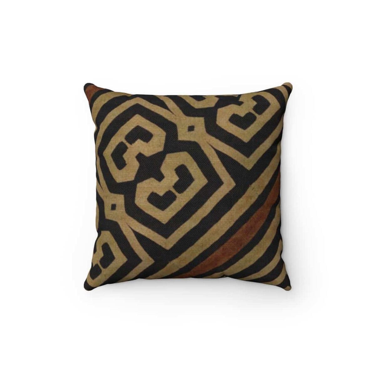 Bogolanfini Spun Polyester Square Pillow, 20
