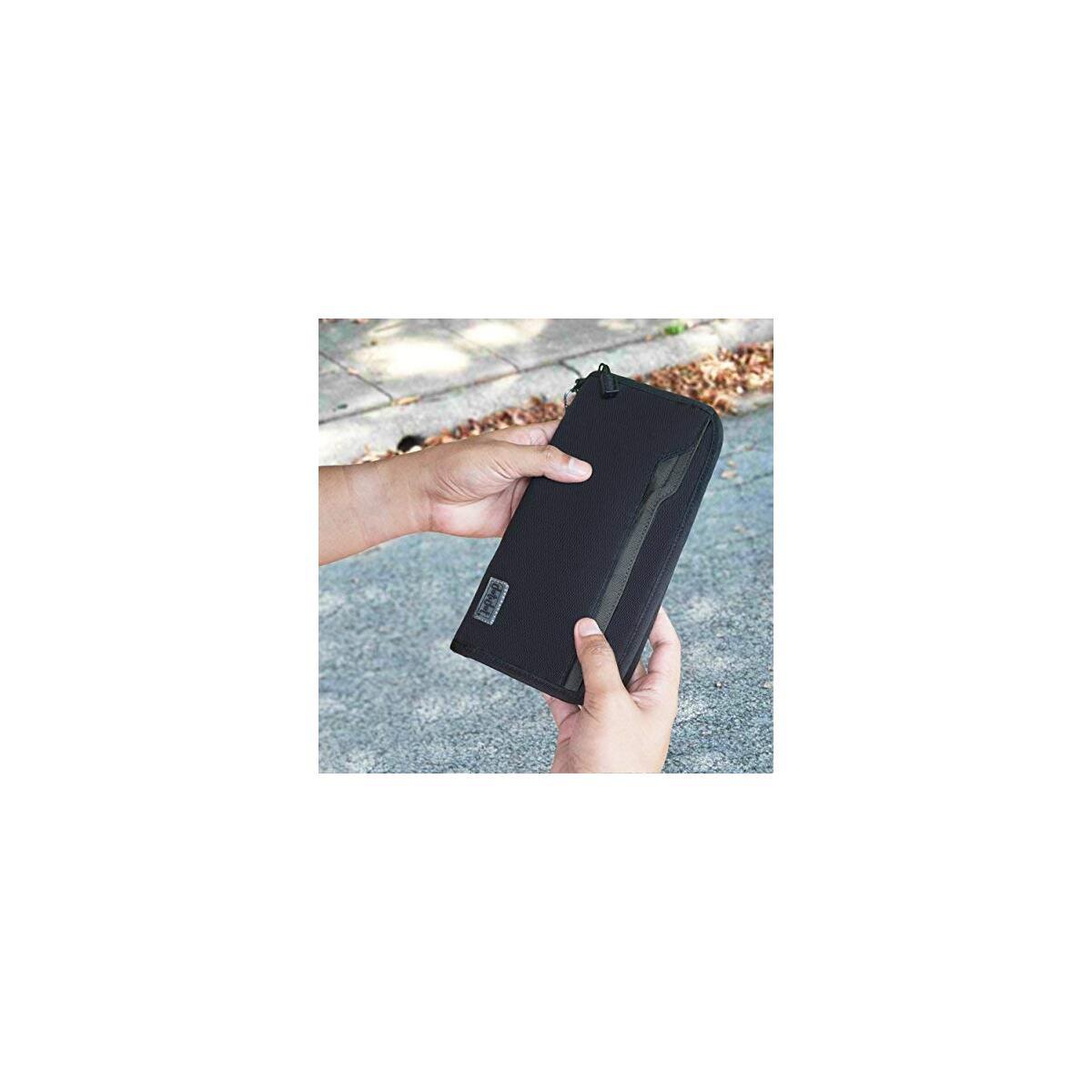 Travel Neck Wallet Passport Holder - Rfid Blocking Boarding Pass, Travel Document Organizer for Men and Women (10 Inch, Black)
