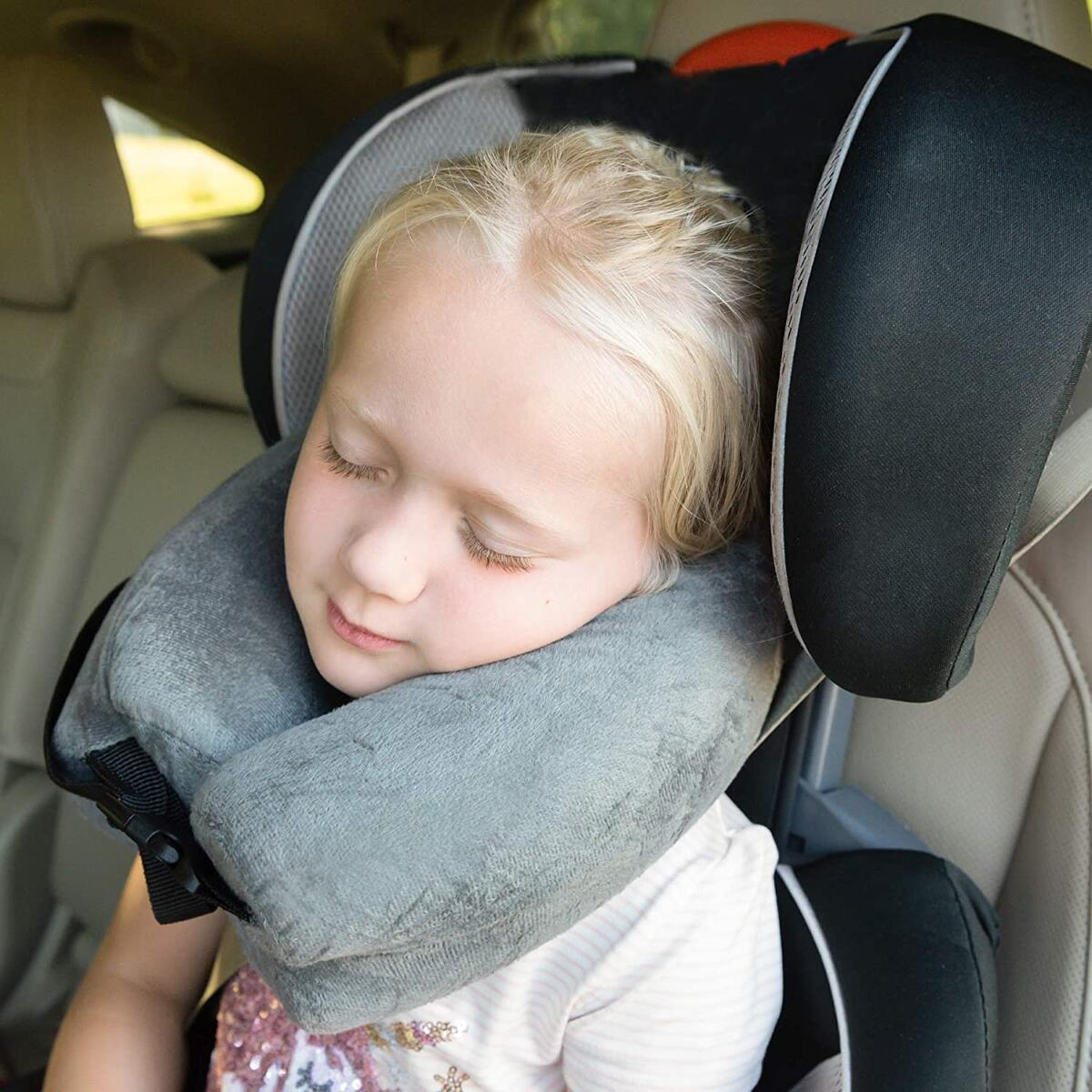 Memory Foam Neck Pillow for Airplane Travel and Shoulder Pain Relief