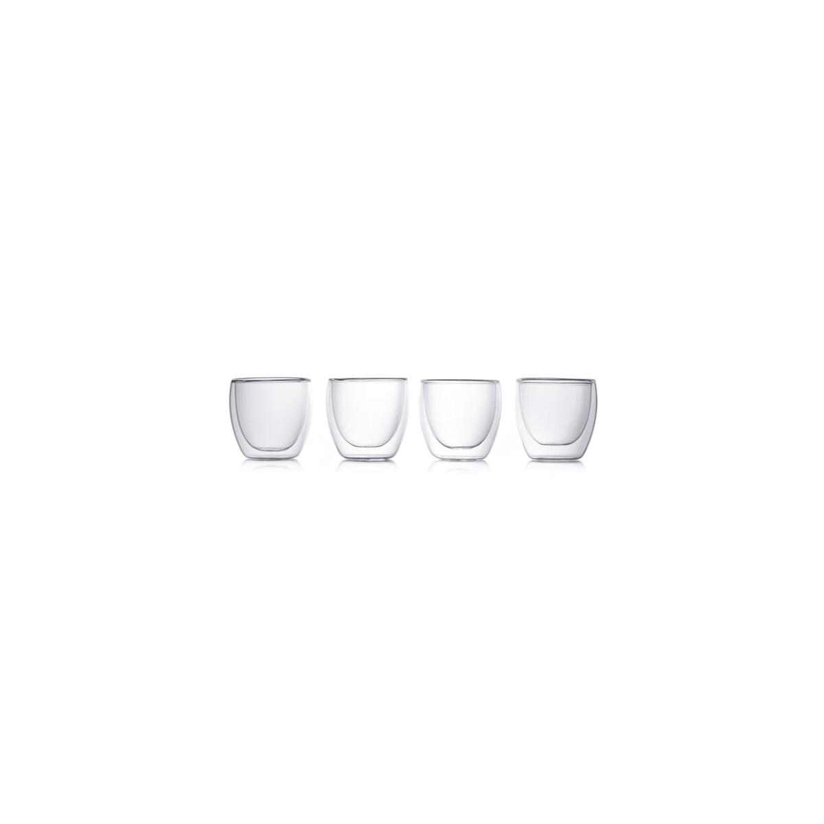 Eparé 2 oz Double Wall Espresso Cups (Set of 4)